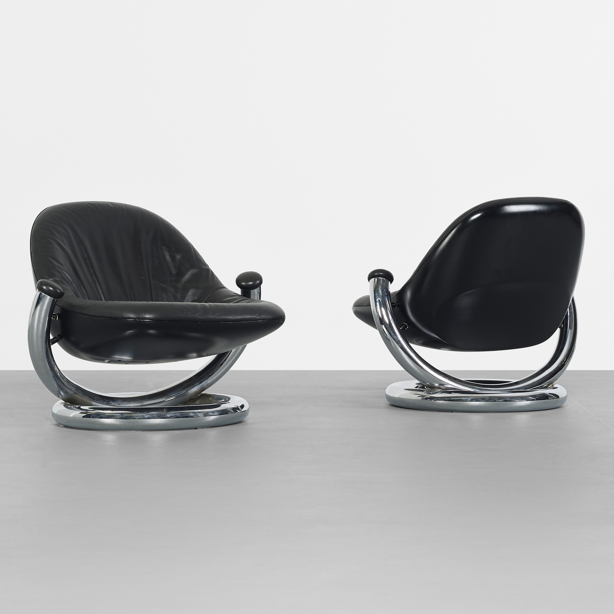 Etonnant 390: Paul Tuttle / Anaconda Lounge Chairs, Pair (1 Of 2)
