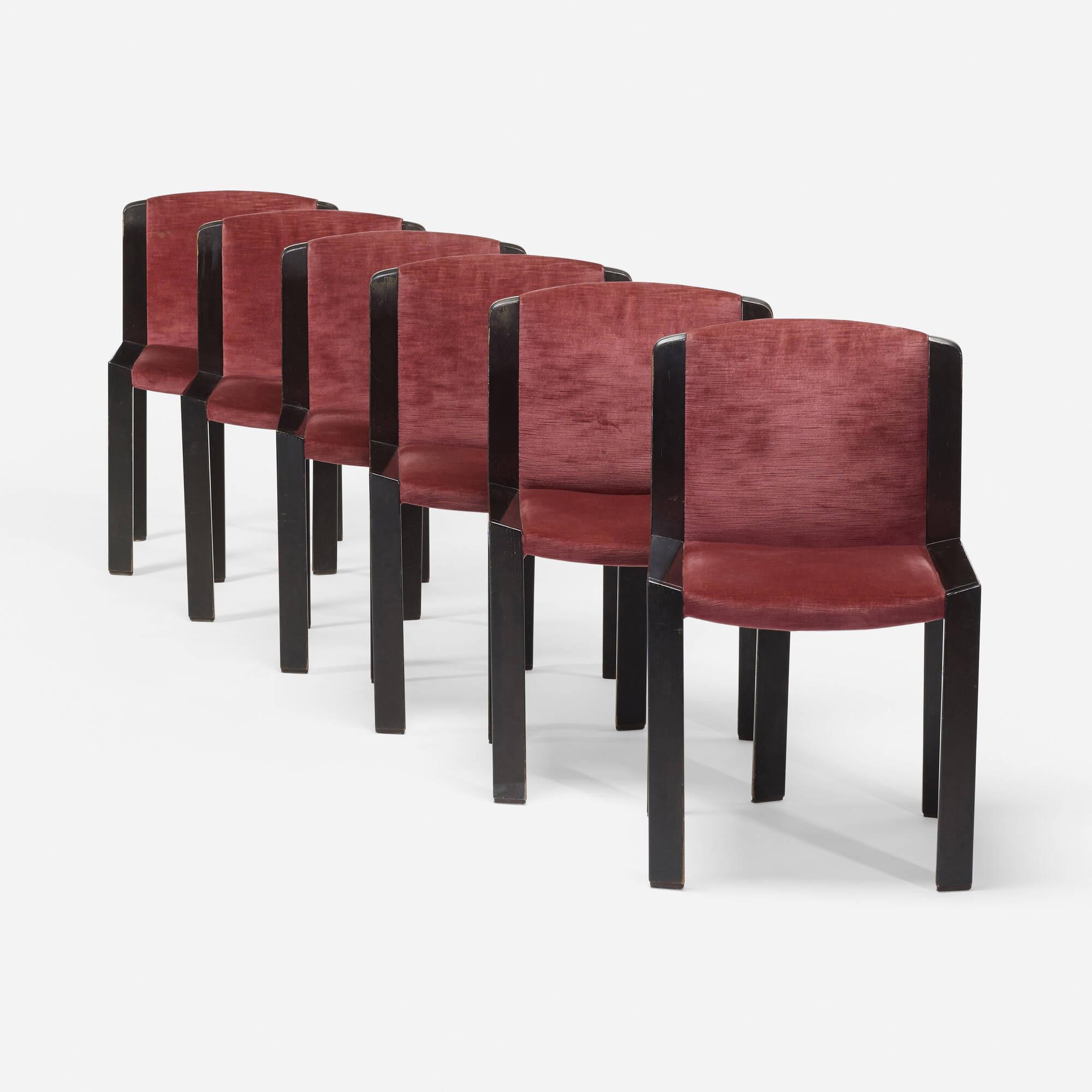 390: Joe Colombo / Model 300 dining chairs, set of six (1 of 3)
