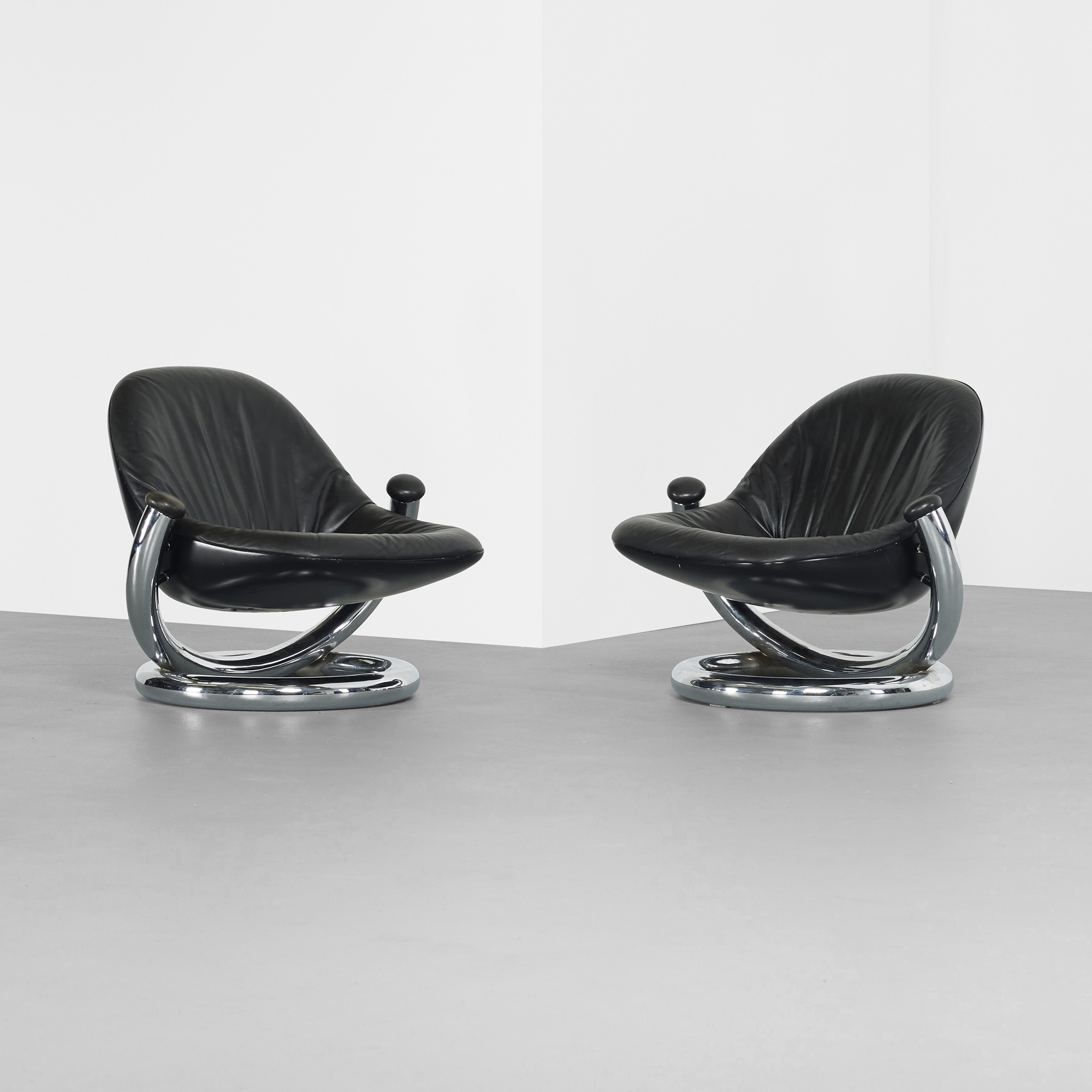 ... 390: Paul Tuttle / Anaconda Lounge Chairs, Pair (2 Of 2)