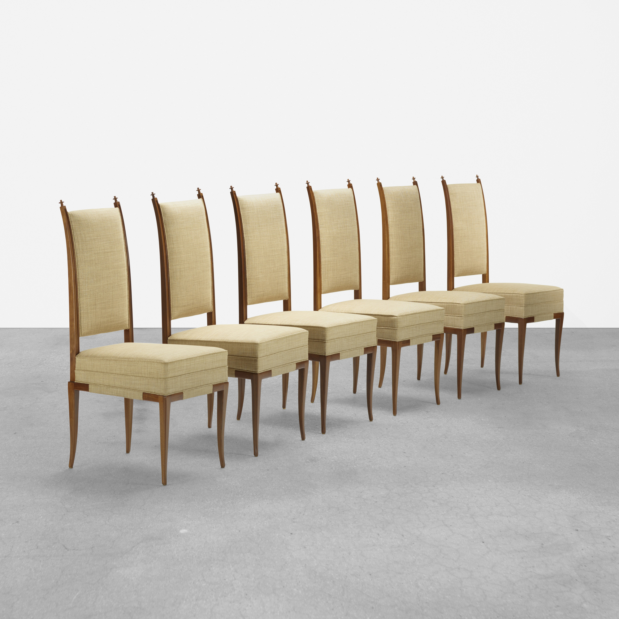 391: Tommi Parzinger / chairs, set of six (1 of 2)