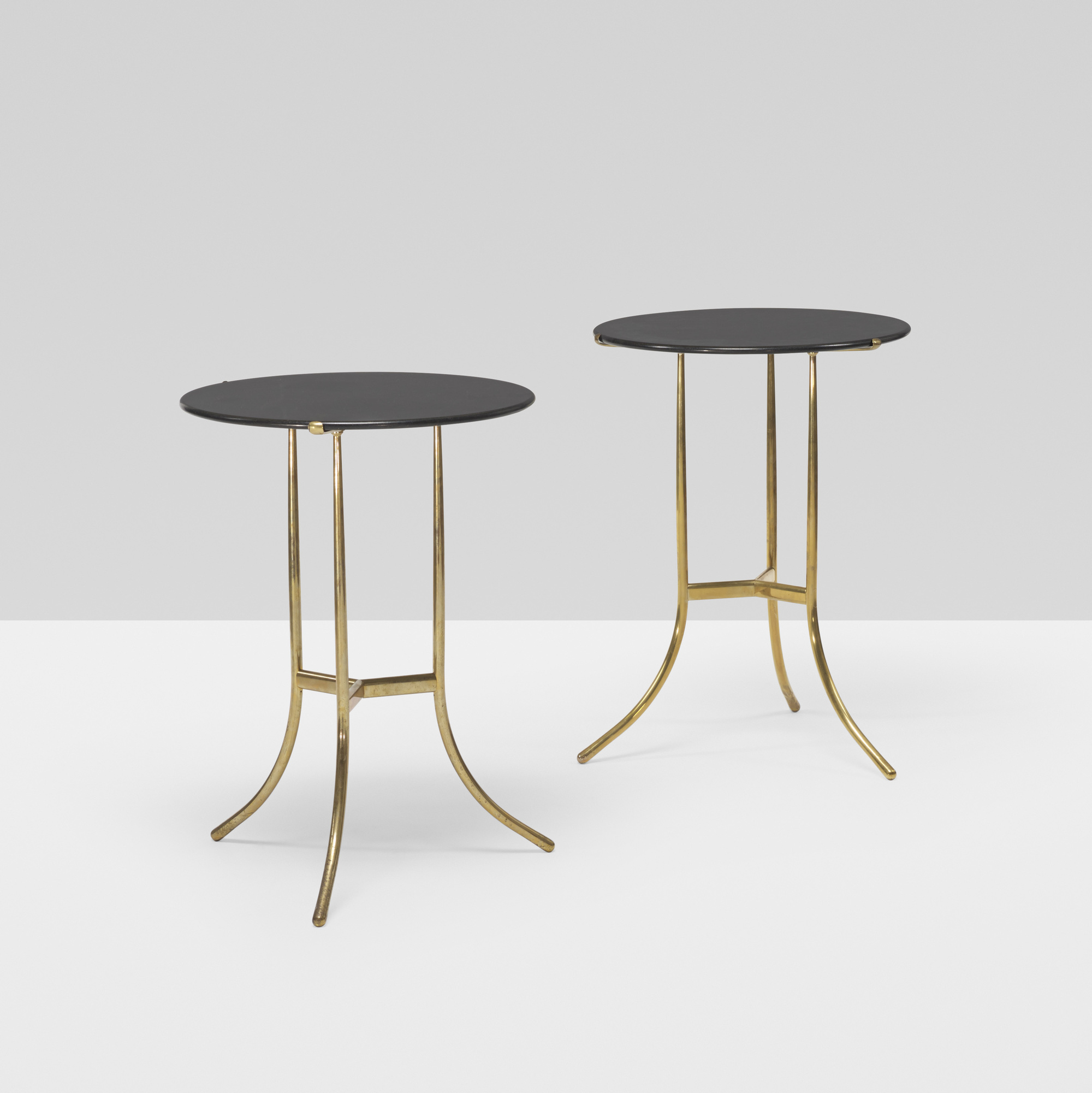 393: Cedric Hartman / occasional tables, pair (1 of 3)