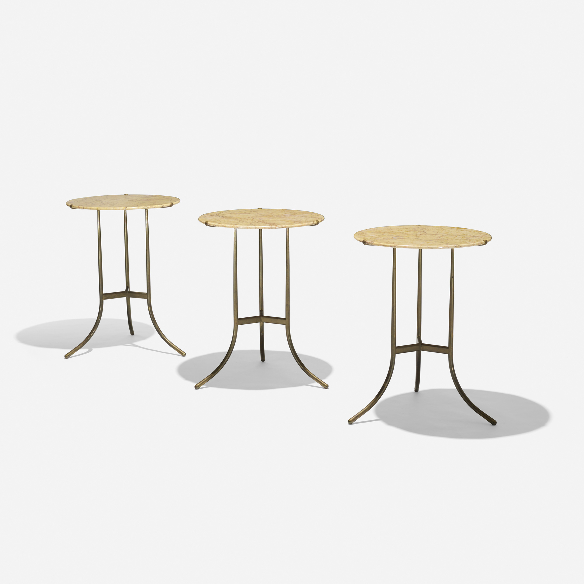 396: Cedric Hartman / occasional tables, set of three (1 of 4)