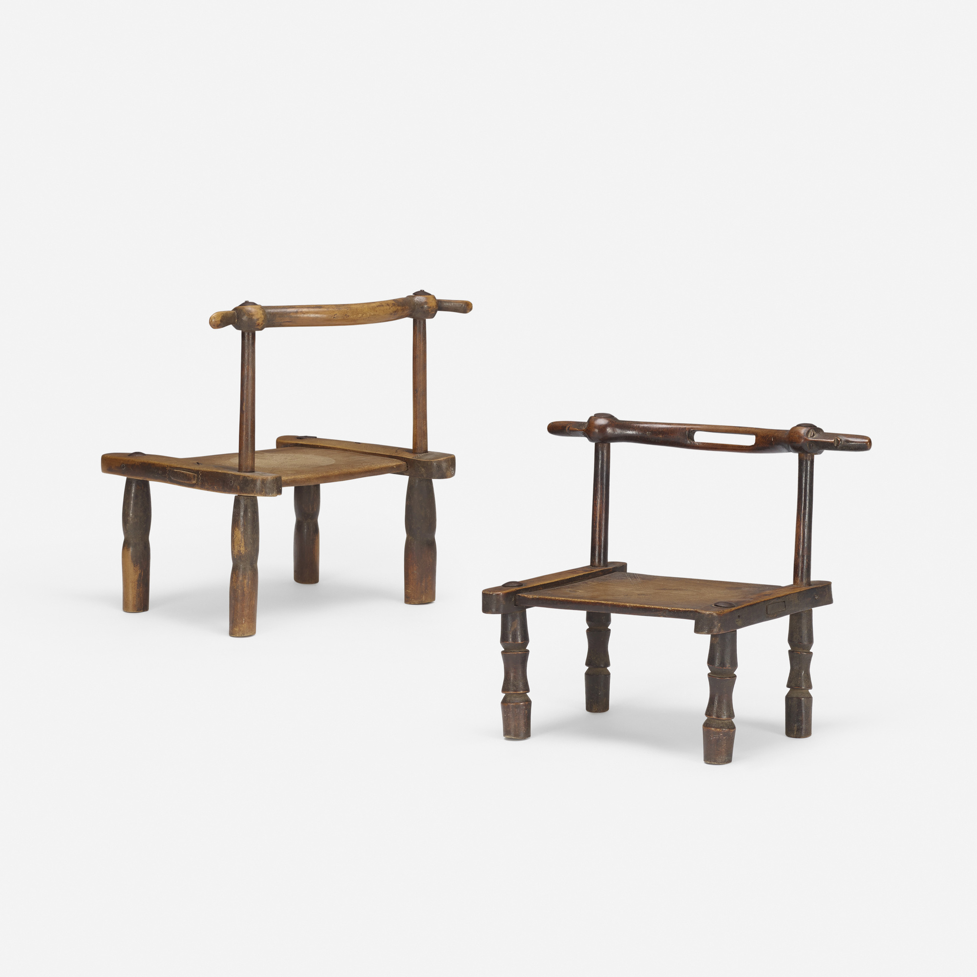 396: African / Chairs, Pair (1 Of 3)