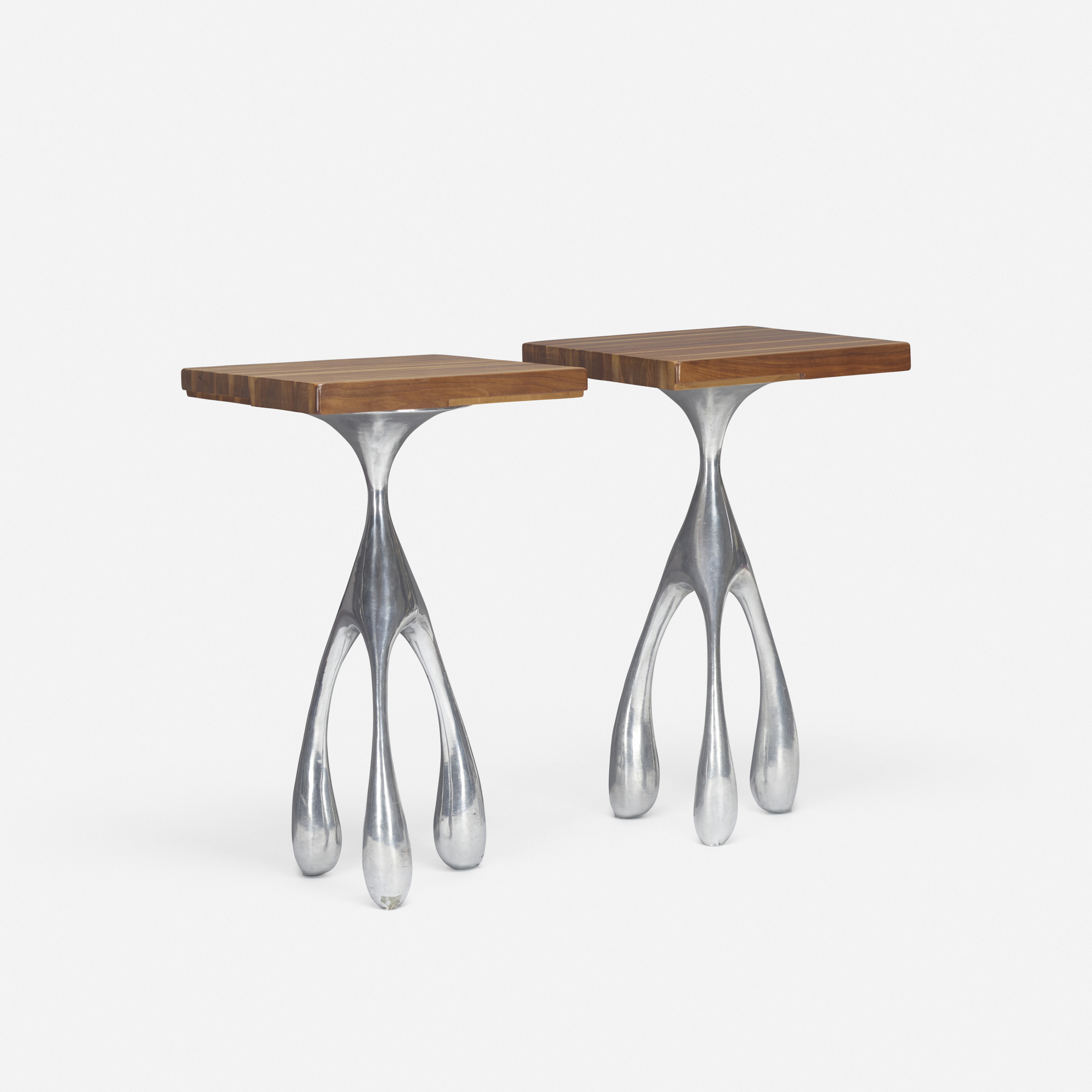 396: Jordan Mozer / pair of occasional tables from Bob San, Chicago (1 of 2)