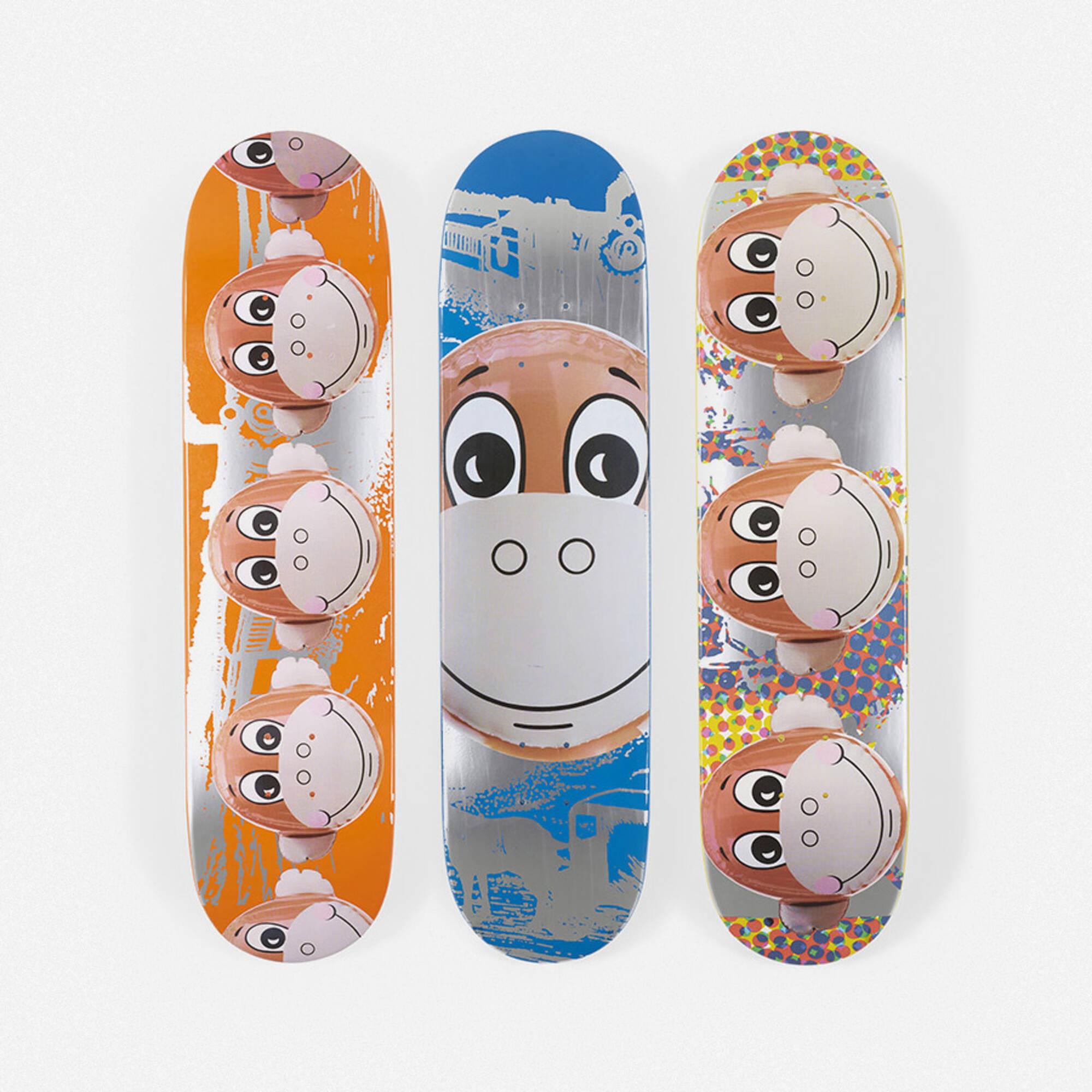 398: Jeff Koons / Monkey Train skateboard decks, set of three (1 of 1)