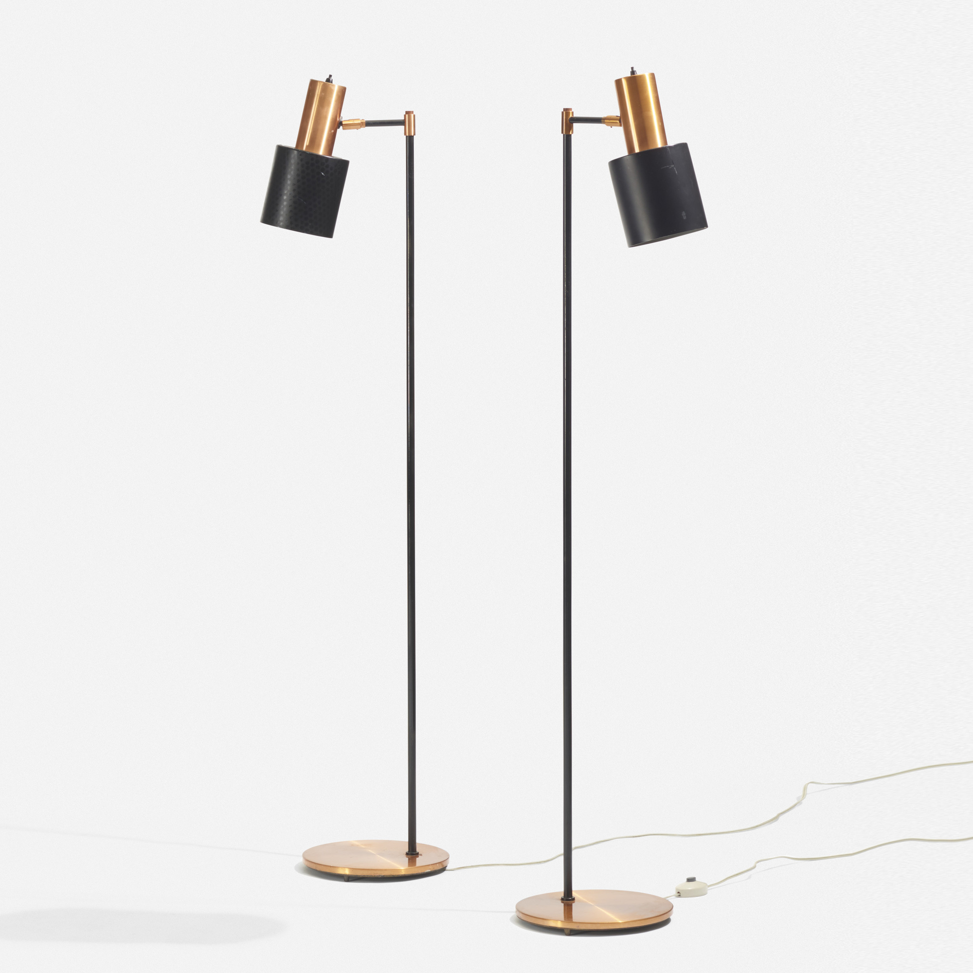 398: Jo Hammerborg / Studio floor lamps, pair < Scandinavian ...
