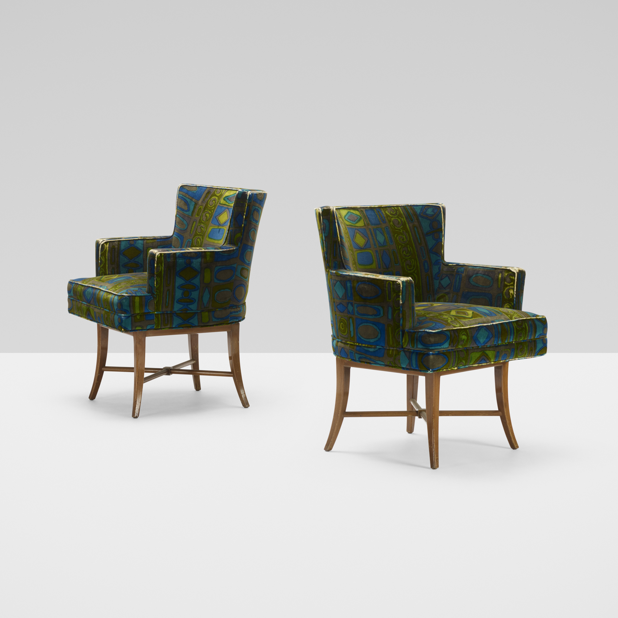 399: Tommi Parzinger / armchairs, pair (1 of 3)
