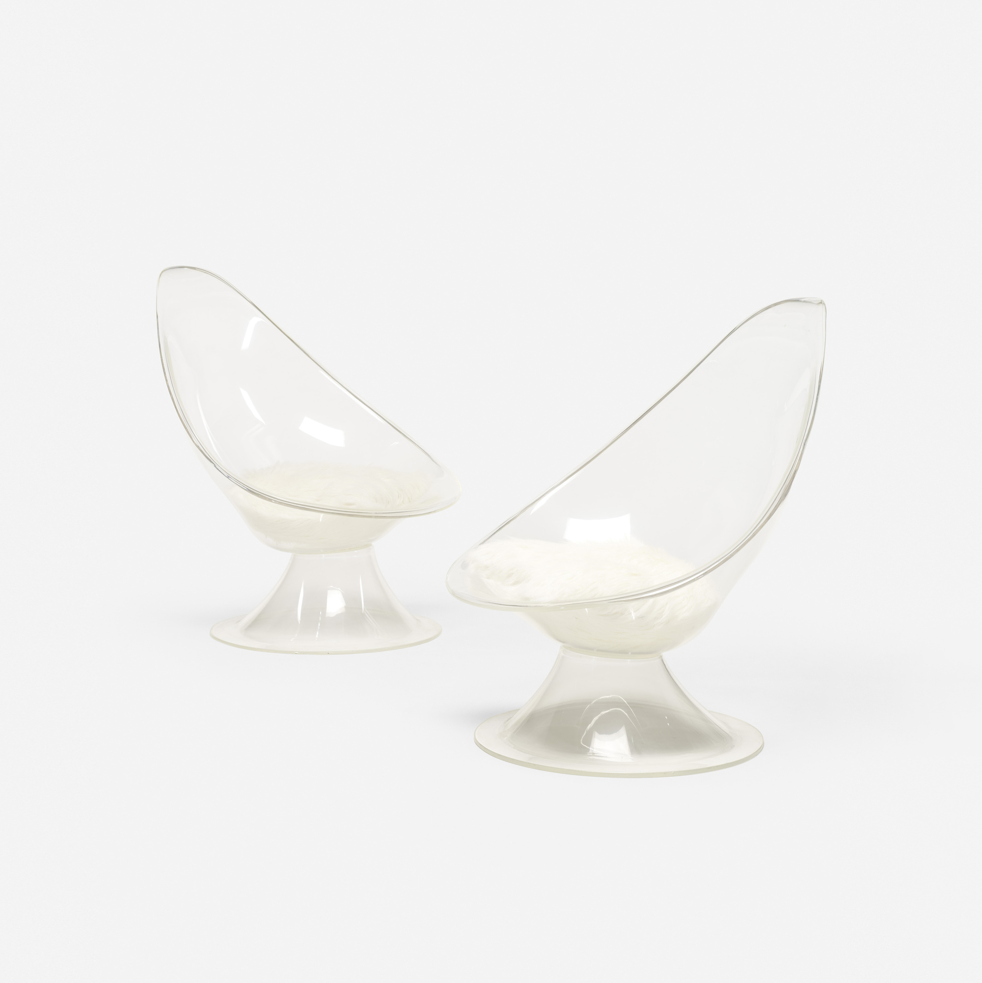 399: Erwine and Estelle Laverne / pair of Lily chairs from the Invisible Group (1 of 2)