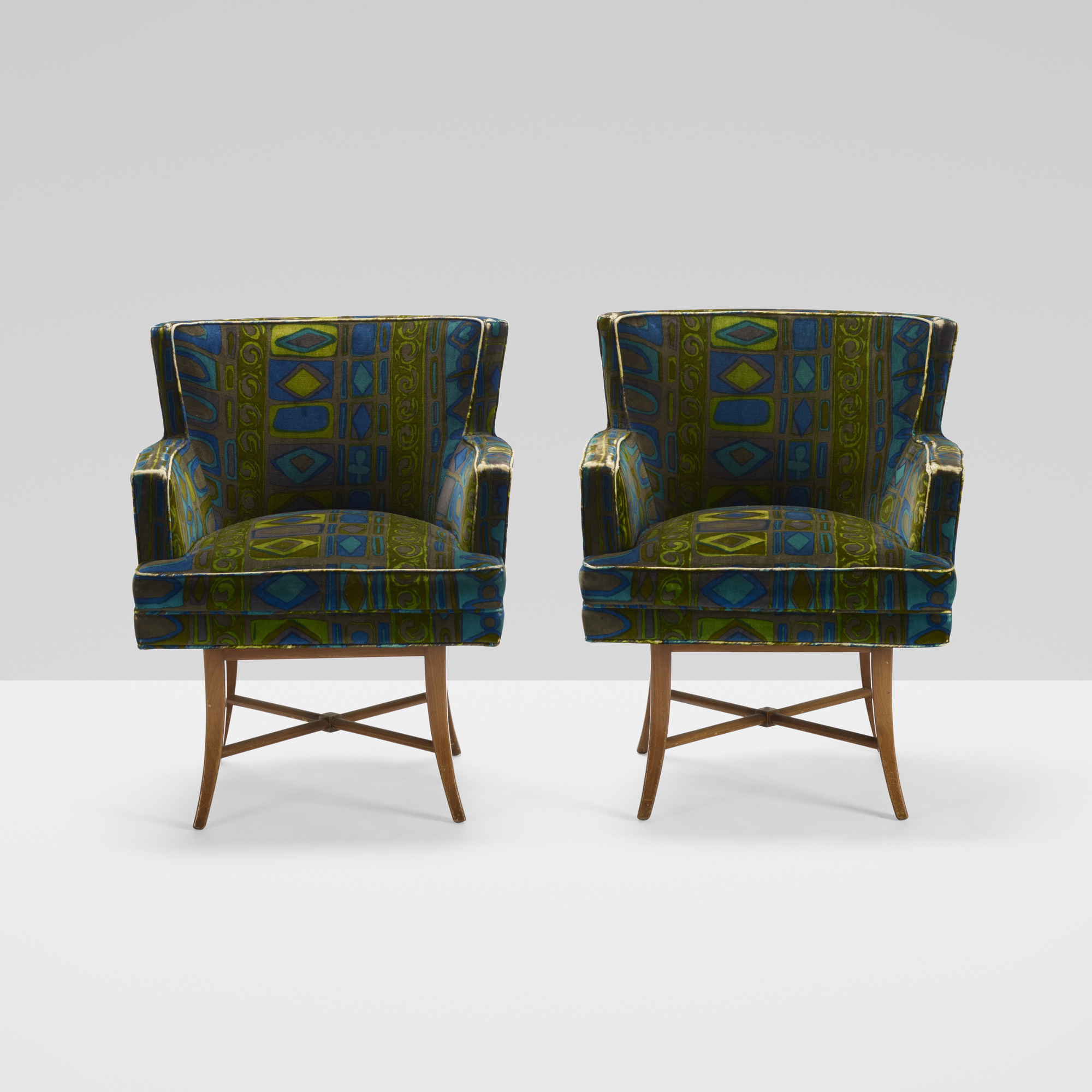 399: Tommi Parzinger / armchairs, pair (2 of 3)