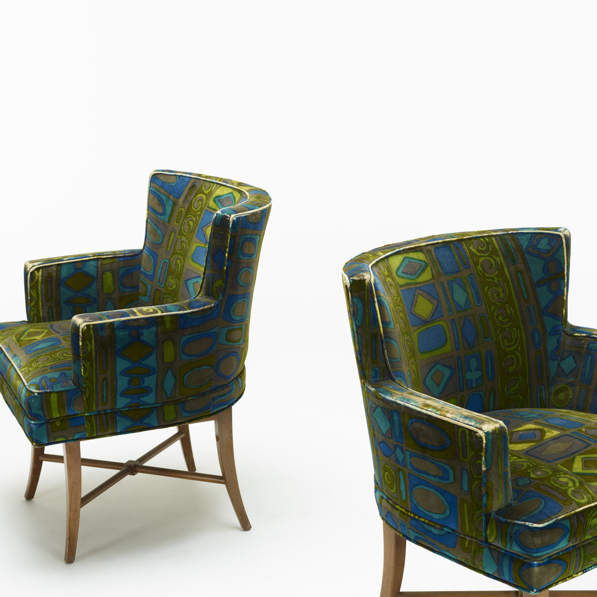 399: Tommi Parzinger / armchairs, pair (3 of 3)