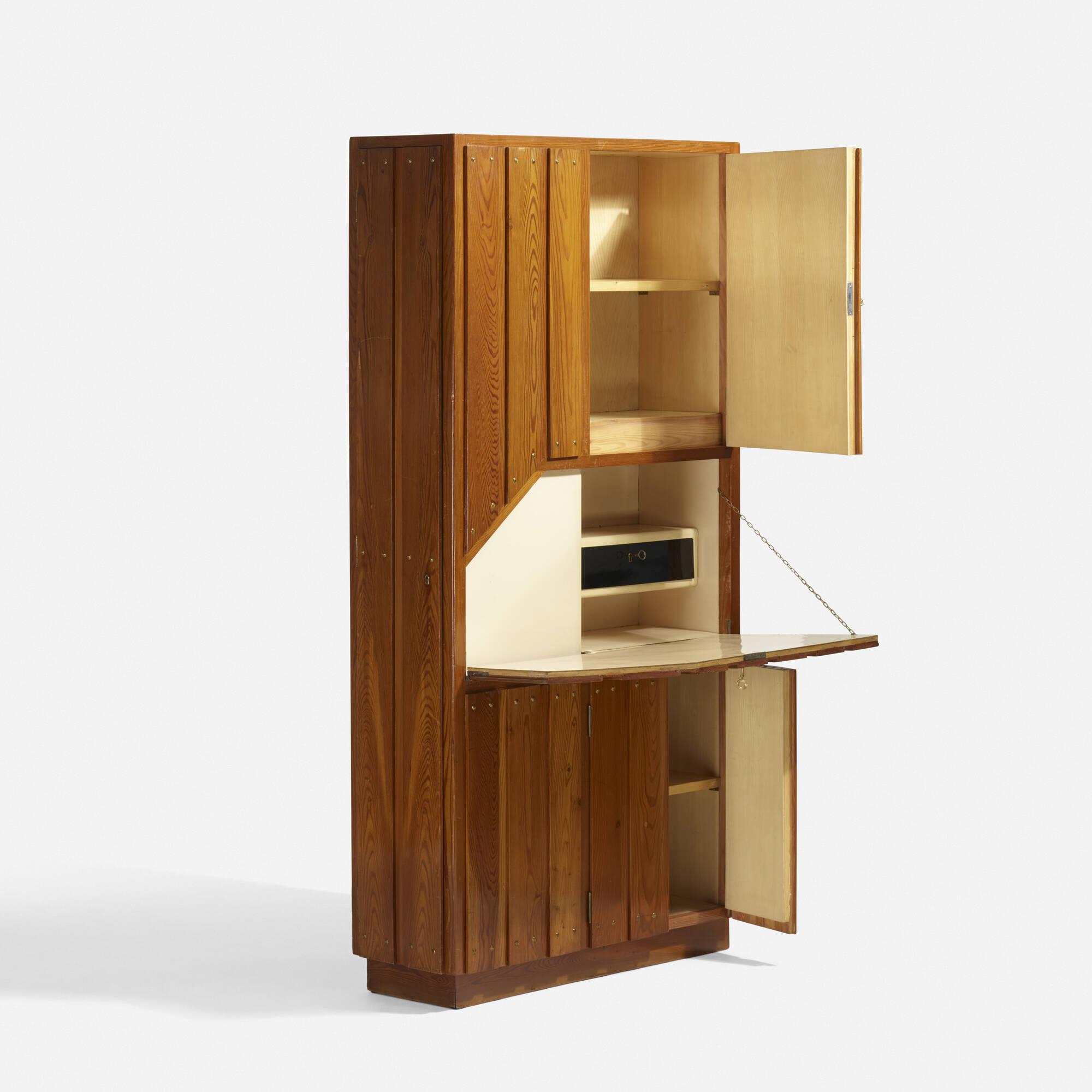 39: carlo mollino / unique secretaire cabinet for casa cattaneo
