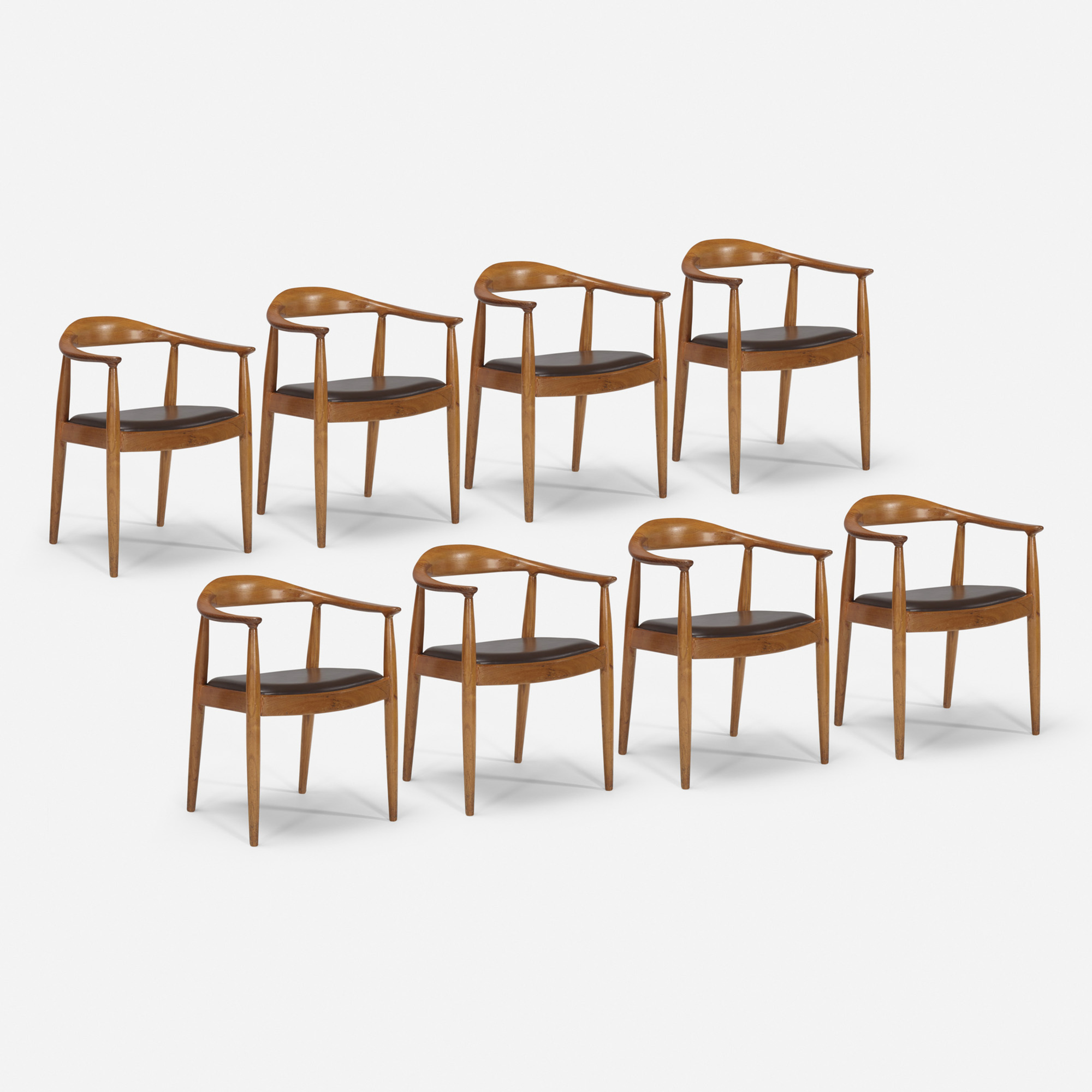 401: Hans J. Wegner / The Chairs from the mezzanine of the Grill Room, set of eight (1 of 1)