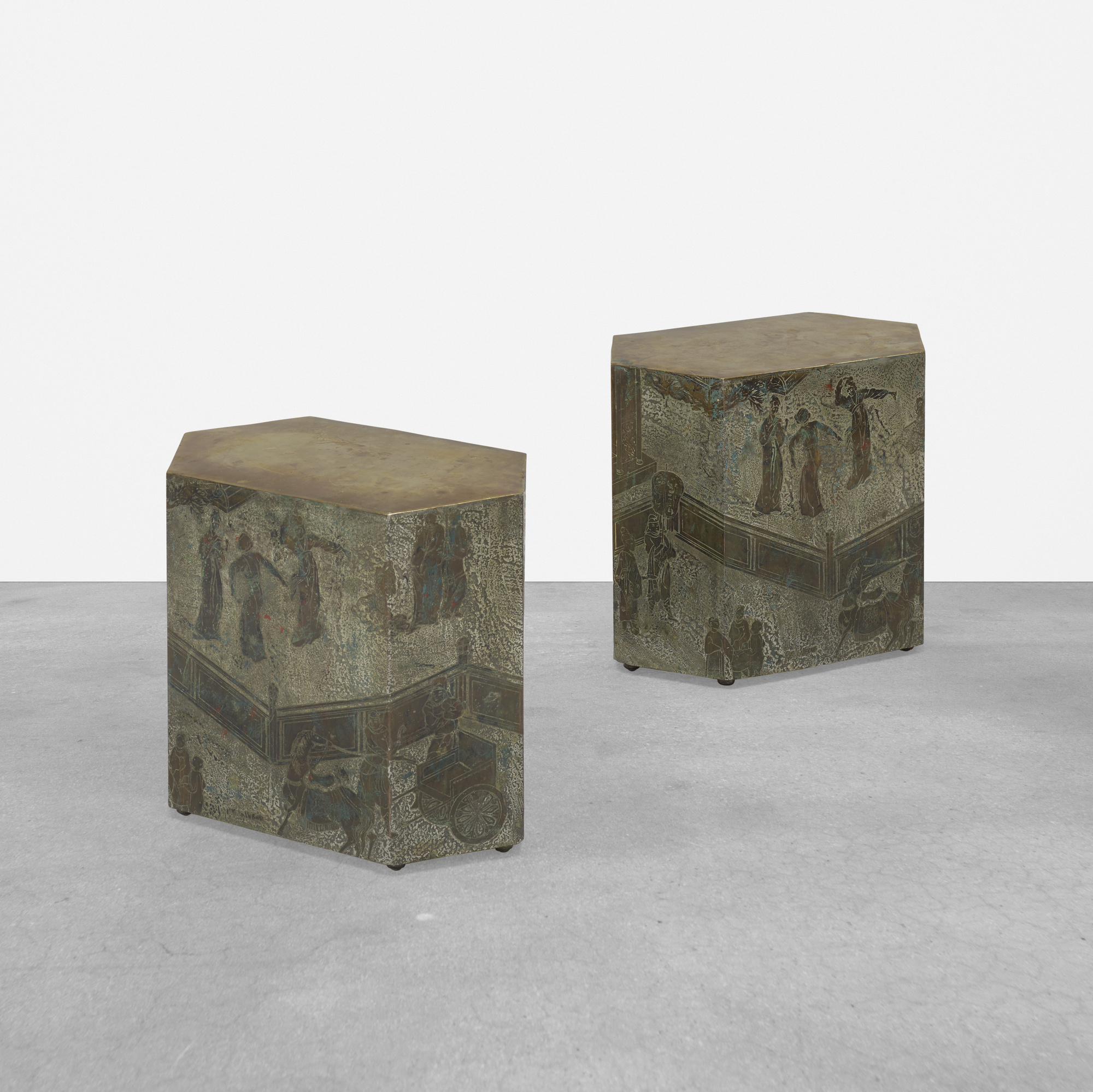 402: Philip and Kelvin LaVerne / Chan occasional tables, pair (1 of 5)