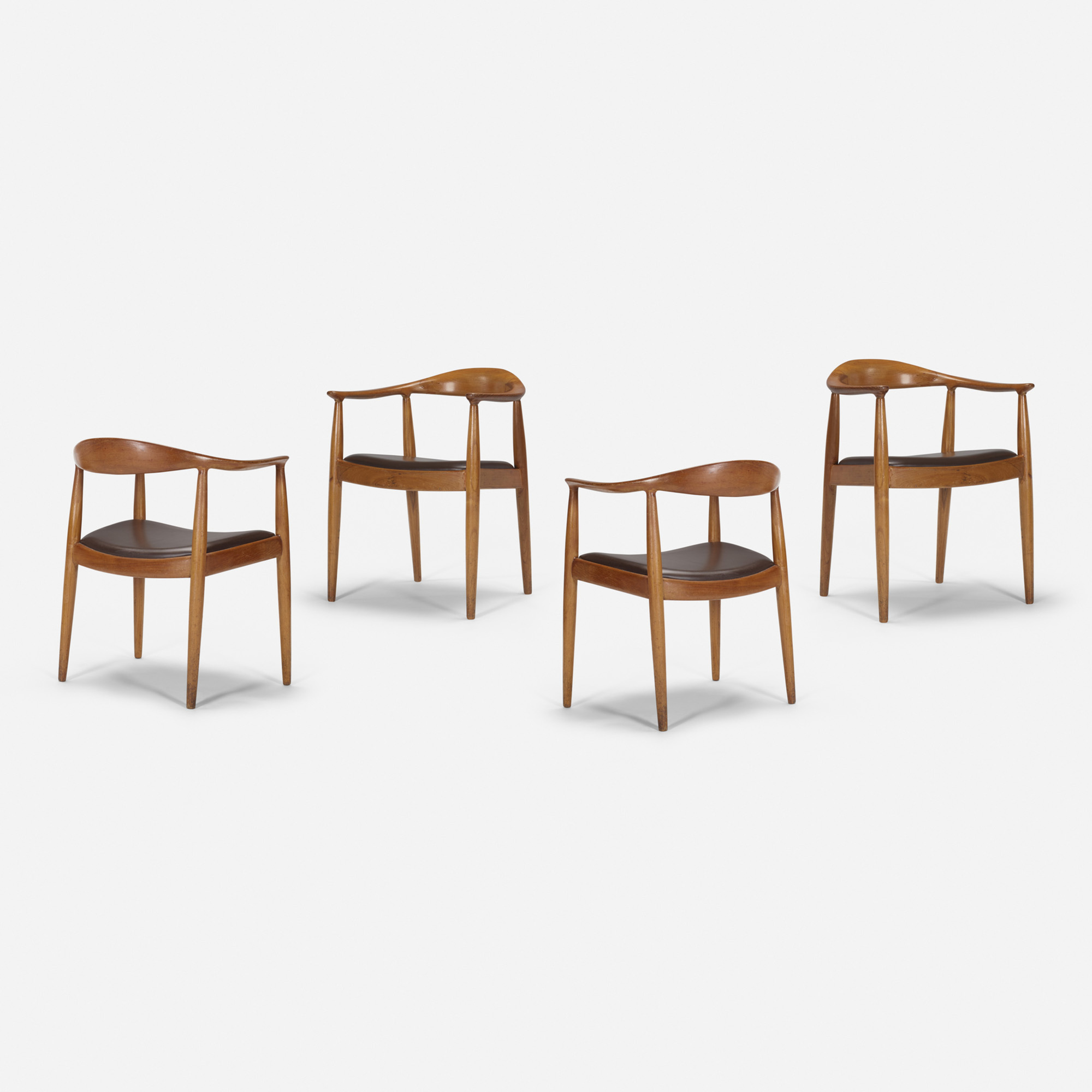 402: Hans J. Wegner / The Chairs from the mezzanine of the Grill Room, set of four (1 of 1)