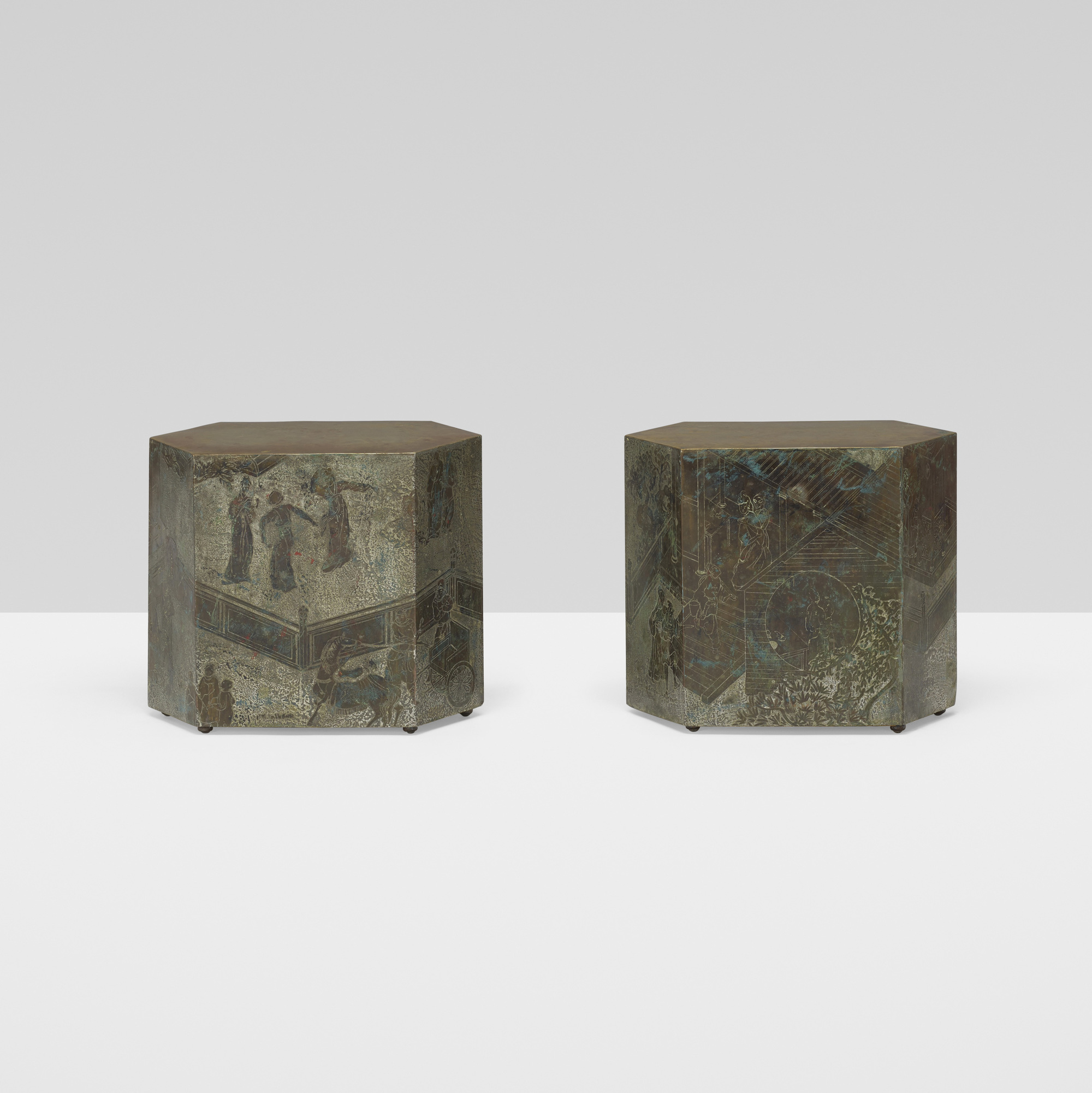 402: Philip and Kelvin LaVerne / Chan occasional tables, pair (2 of 5)