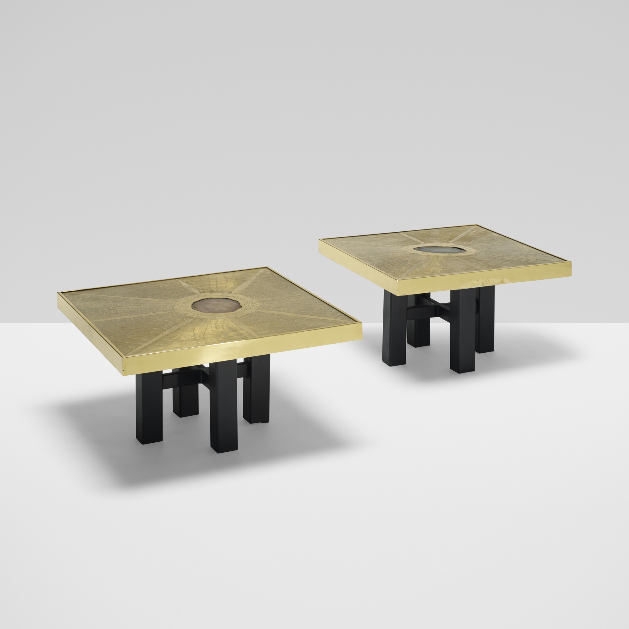 403: Paco Rabanne / coffee tables, pair (1 of 3)