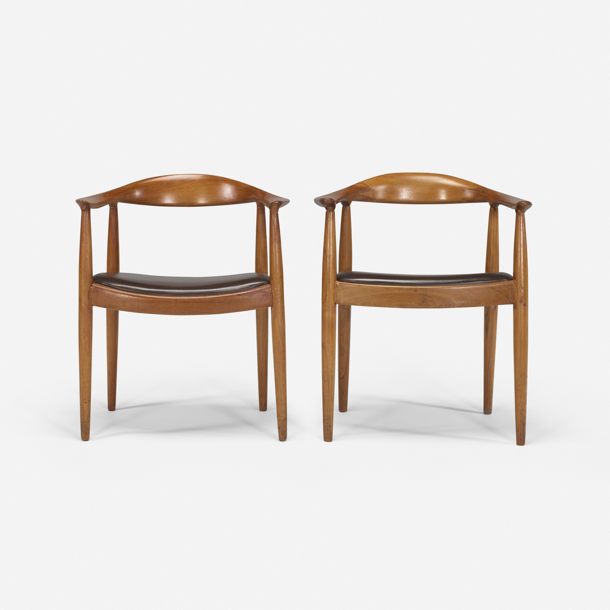 405: After Hans J.  Wegner / The Chairs from the mezzanine of the Grill Room, pair (1 of 1)