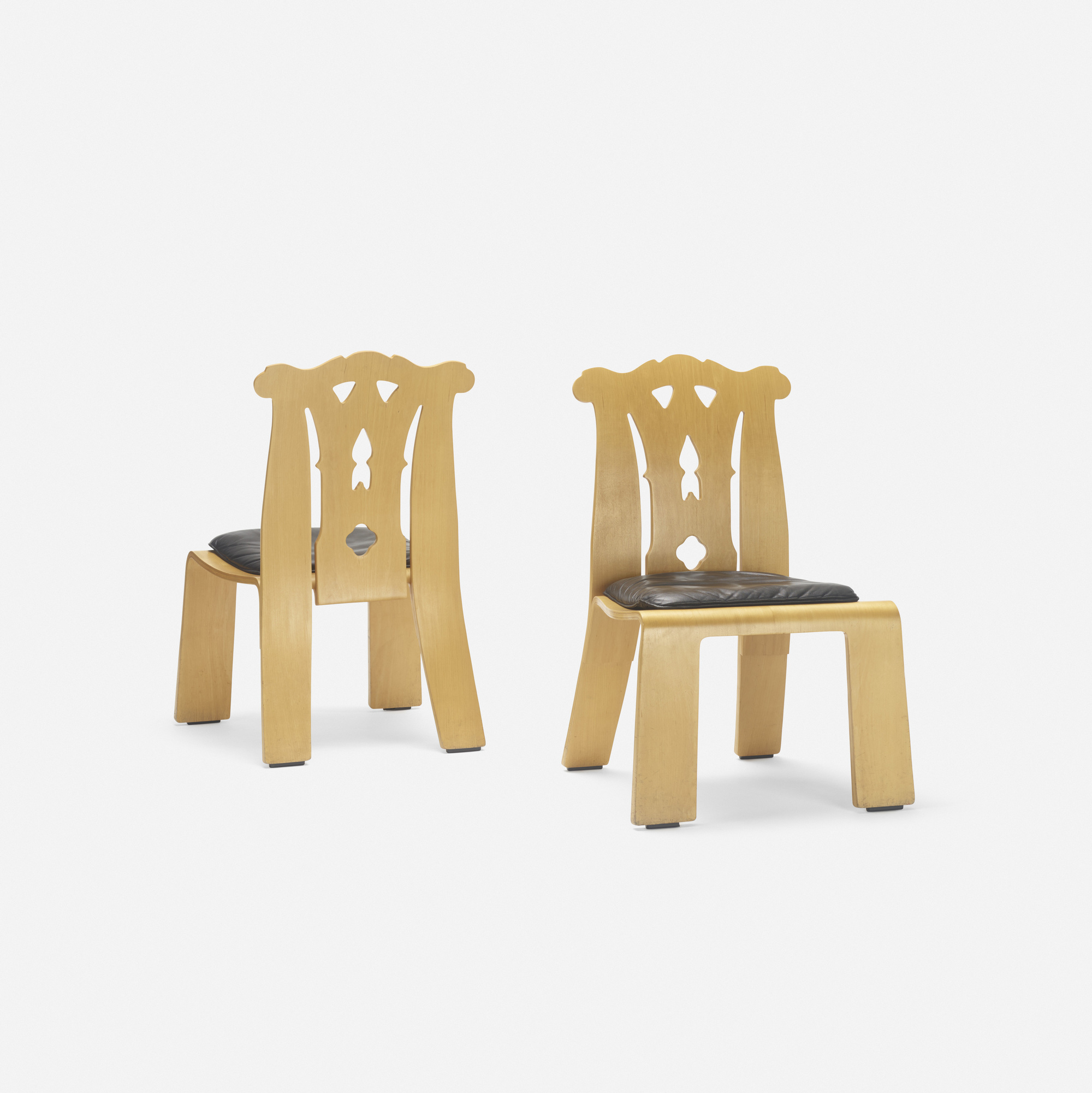 407: Robert Venturi / Chippendale chairs, pair (1 of 3)