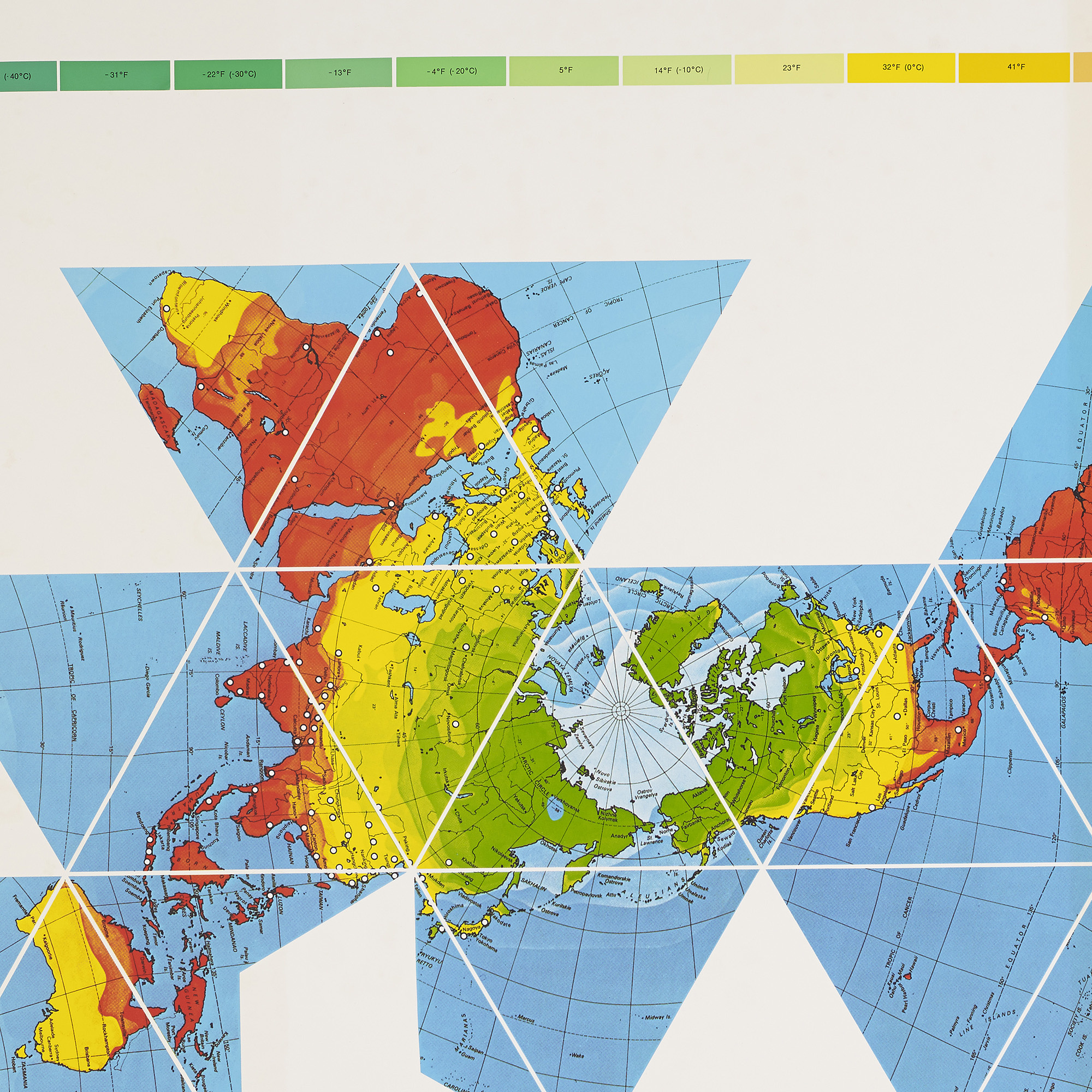 407: R. BUCKMINSTER FULLER, Dymaxion Air-Ocean World Map < Design ...
