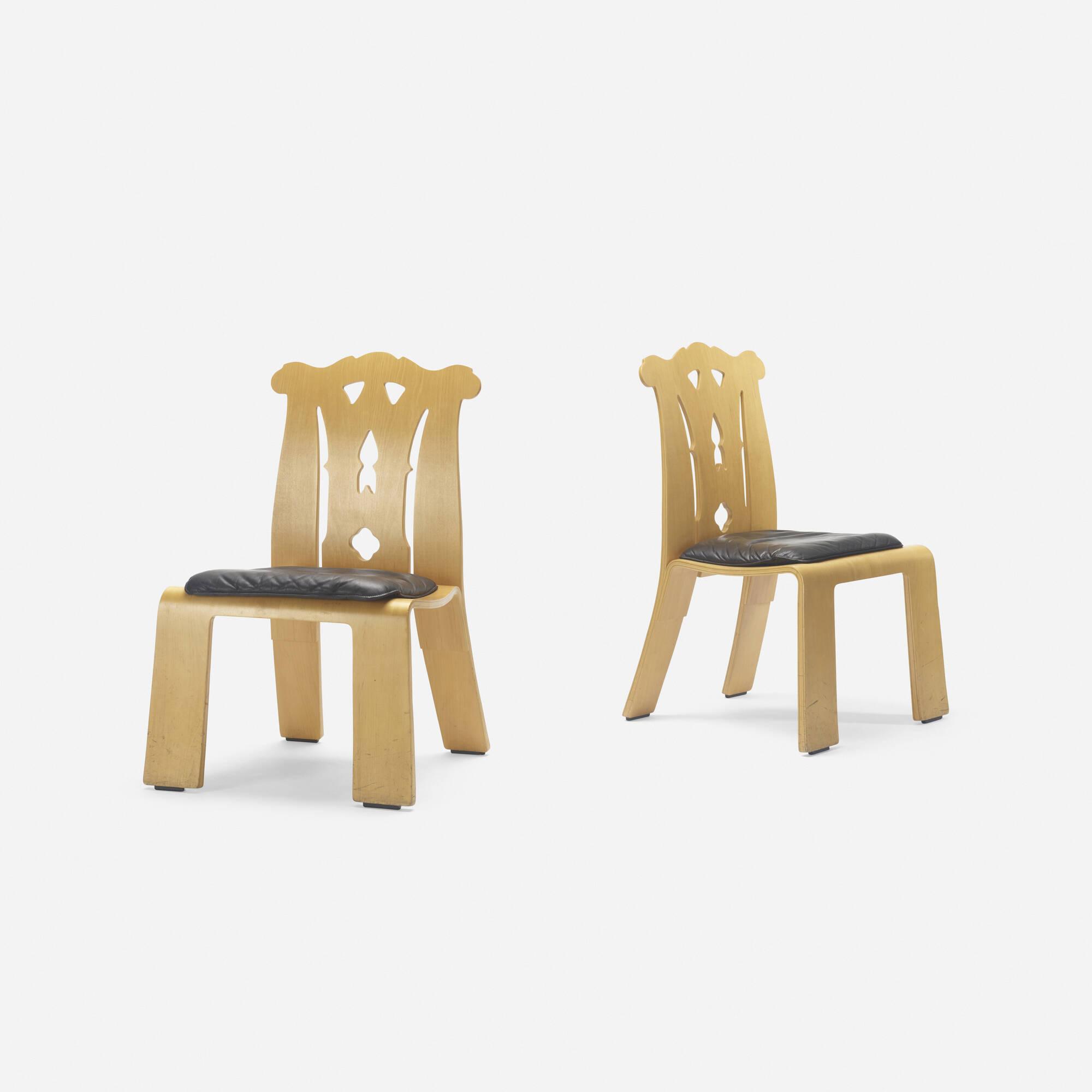 407: Robert Venturi / Chippendale chairs, pair (2 of 3)