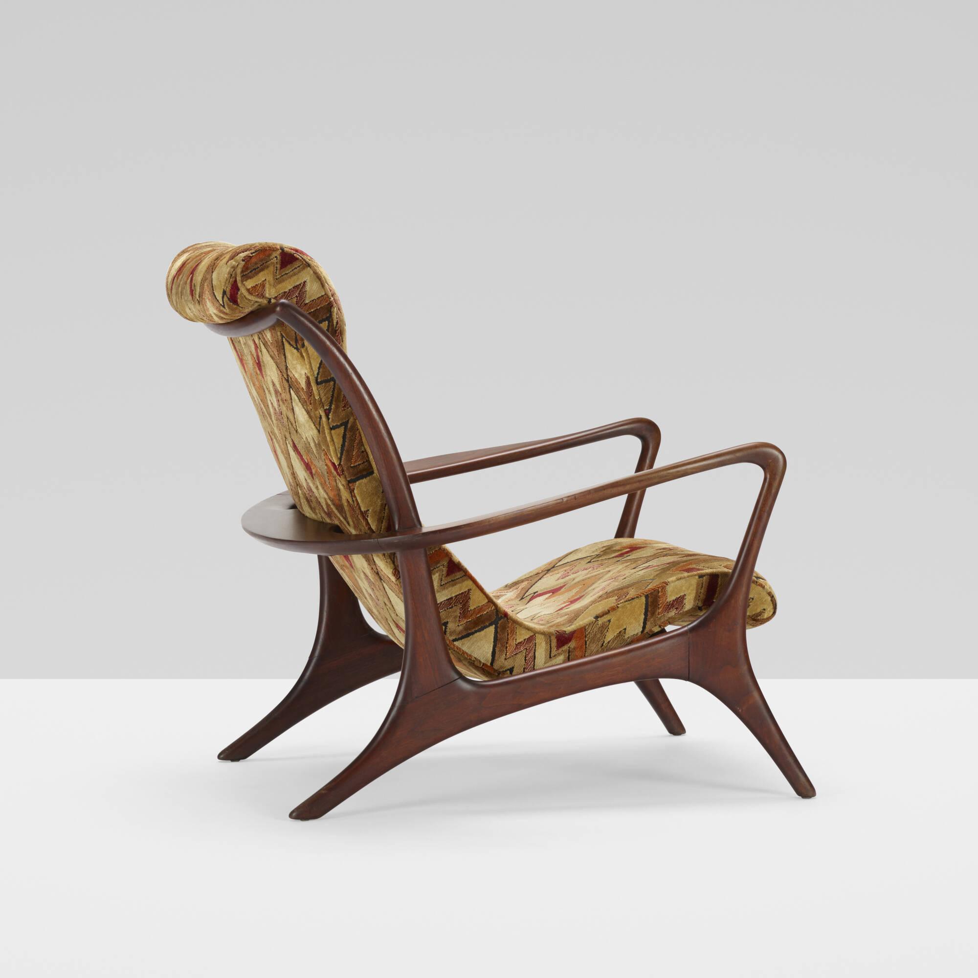 409: Vladimir Kagan / High Back Sculptured Contoured chair (2 of 3)