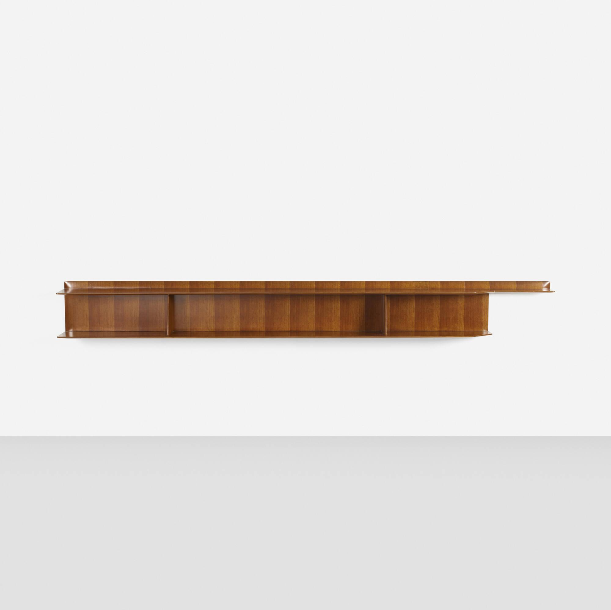 40 Gio Ponti Custom Wall Mounted Shelf For The Federico Residence 2 Of 3