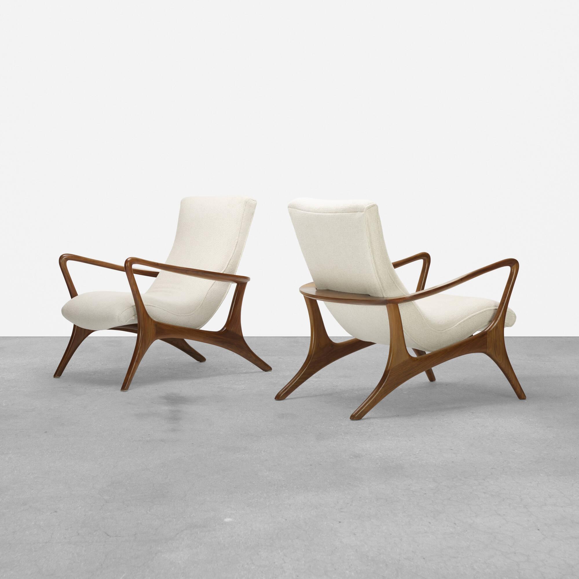 410: Vladimir Kagan / Contour Lounge Chairs, Pair (1 Of 4)