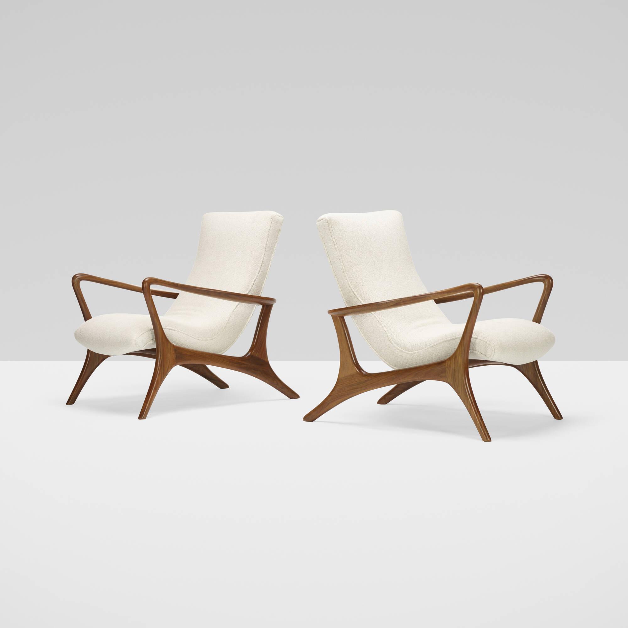 410: Vladimir Kagan / Contour lounge chairs, pair (2 of 4)