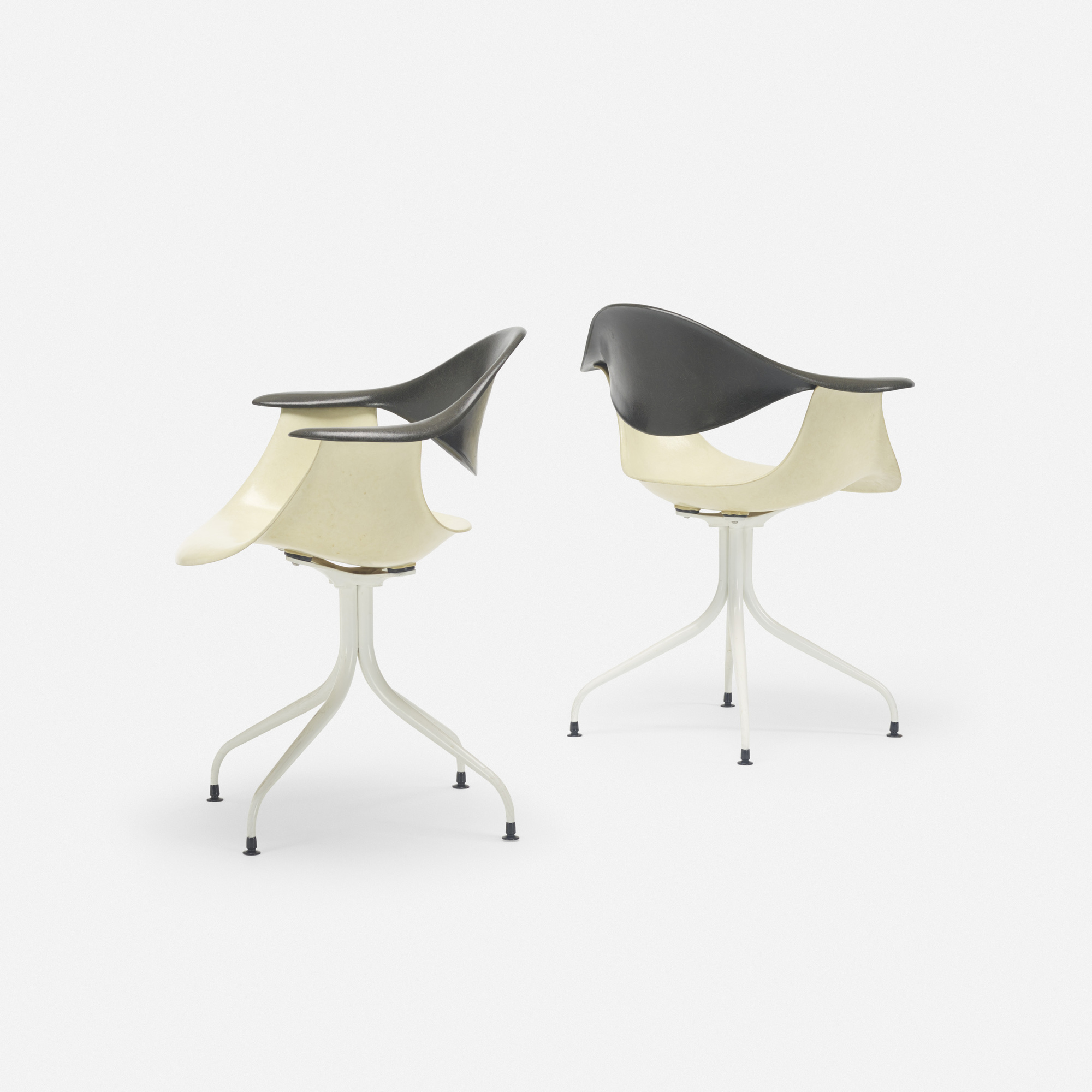 416: George Nelson & Associates / Swaged Leg chairs model MAF, pair (1 of 3)