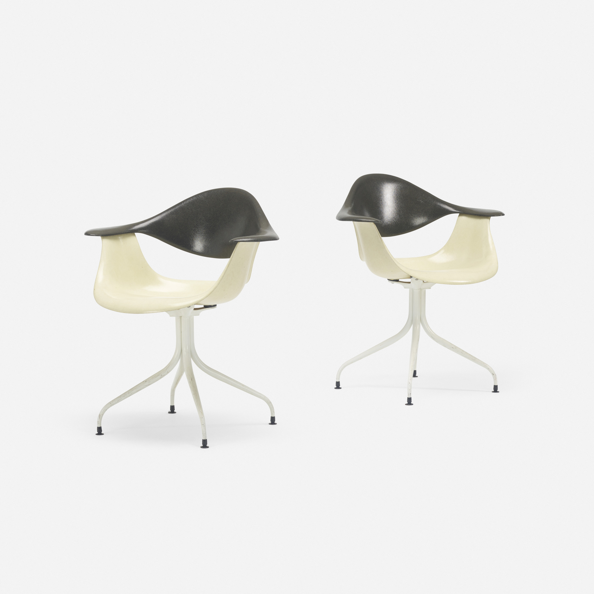 417: George Nelson & Associates / Swaged Leg chairs model MAF, pair (1 of 2)