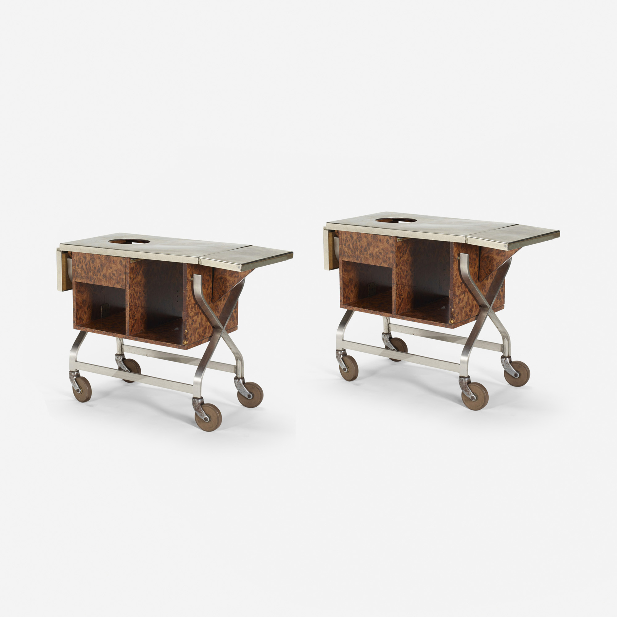 417: Garth and Ada Louise Huxtable / Serving carts from The Four Seasons, pair (1 of 1)