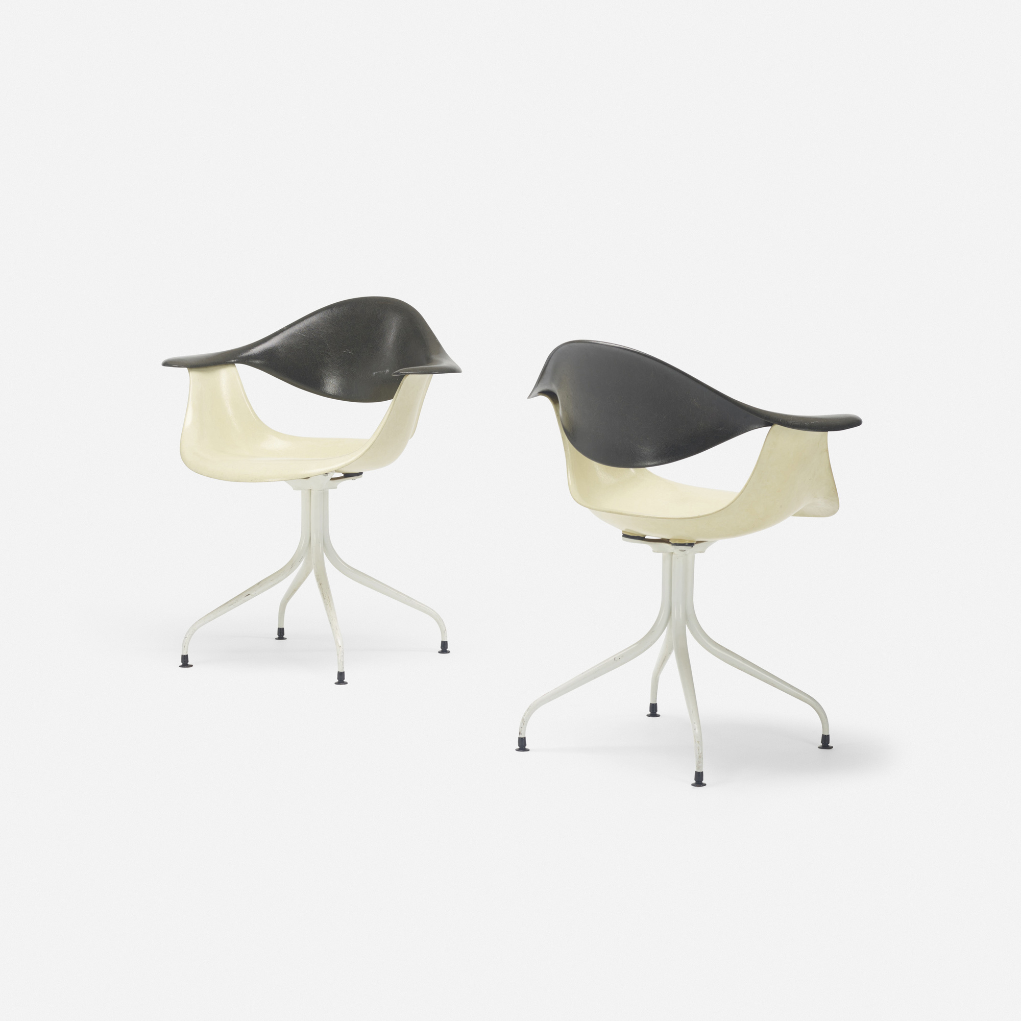 417: George Nelson & Associates / Swaged Leg chairs model MAF, pair (2 of 2)