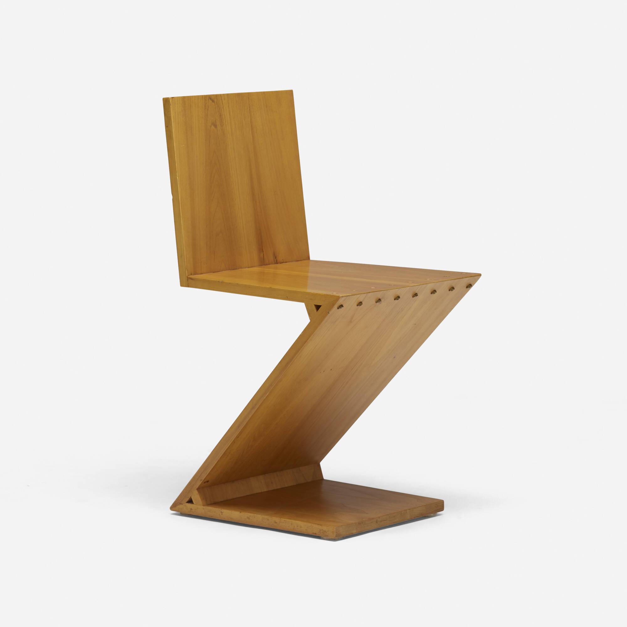 419: Gerrit Rietveld / Zig-Zag chair (2 of 3)