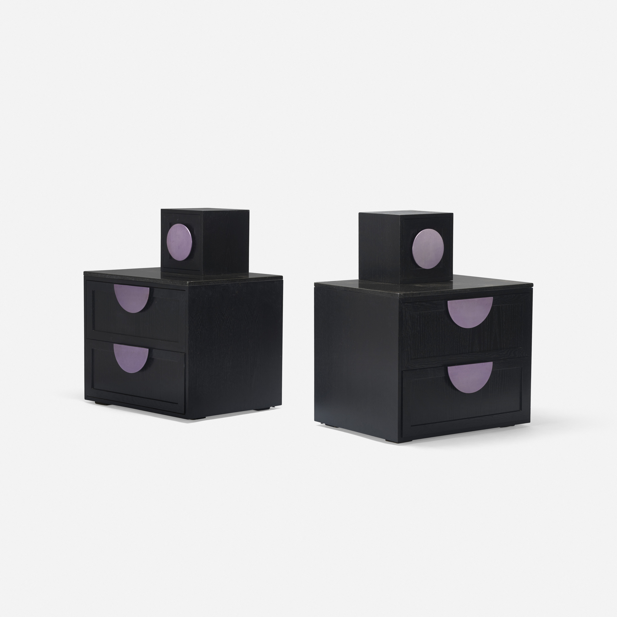 425: Peter Shire / custom nightstands, pair (1 of 2)