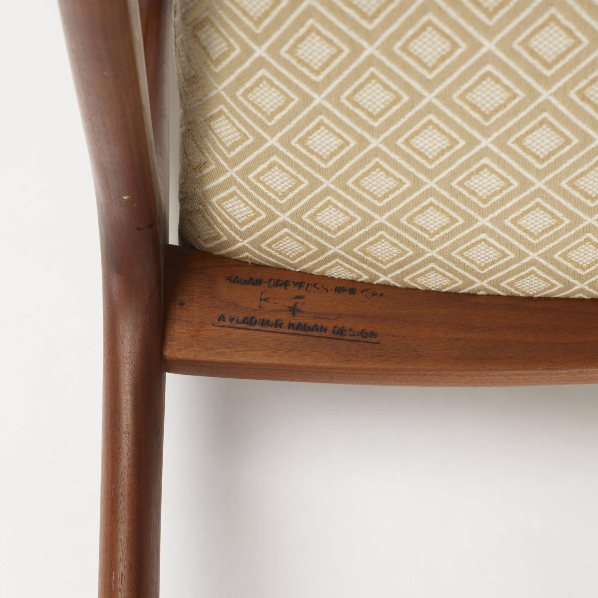 ... 427: Vladimir Kagan / Sling Dining Chairs, Set Of Eight (4 Of 4