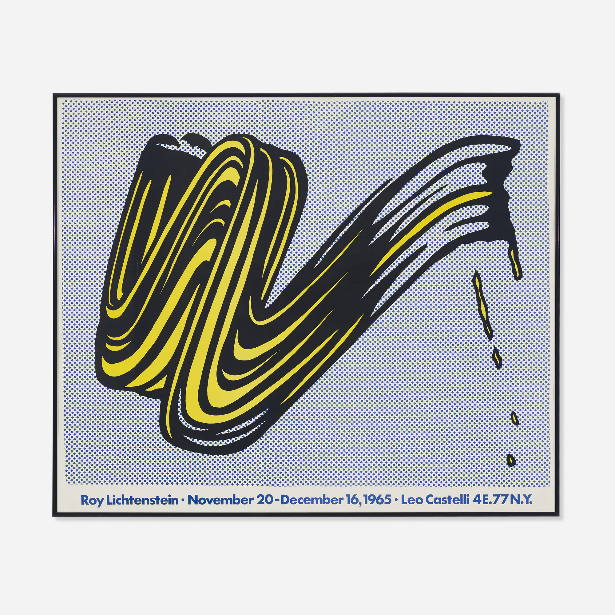 429: ROY LICHTENSTEIN, poster for exhibition with Leo Castelli ...