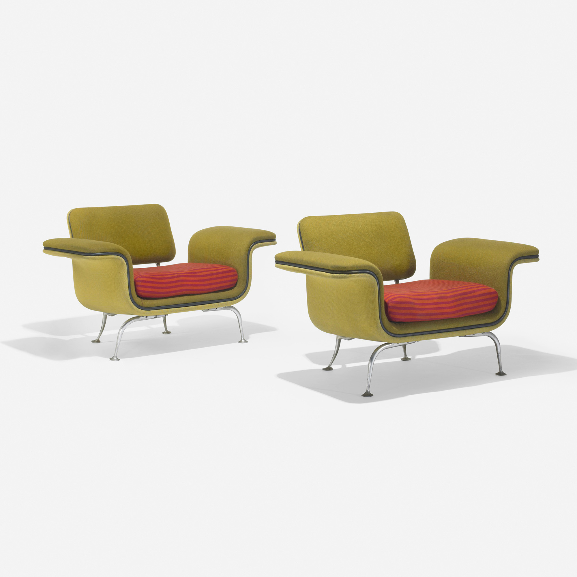 Home Designs October 2012: 429: Alexander Girard / Lounge Chairs Model 66310, Pair