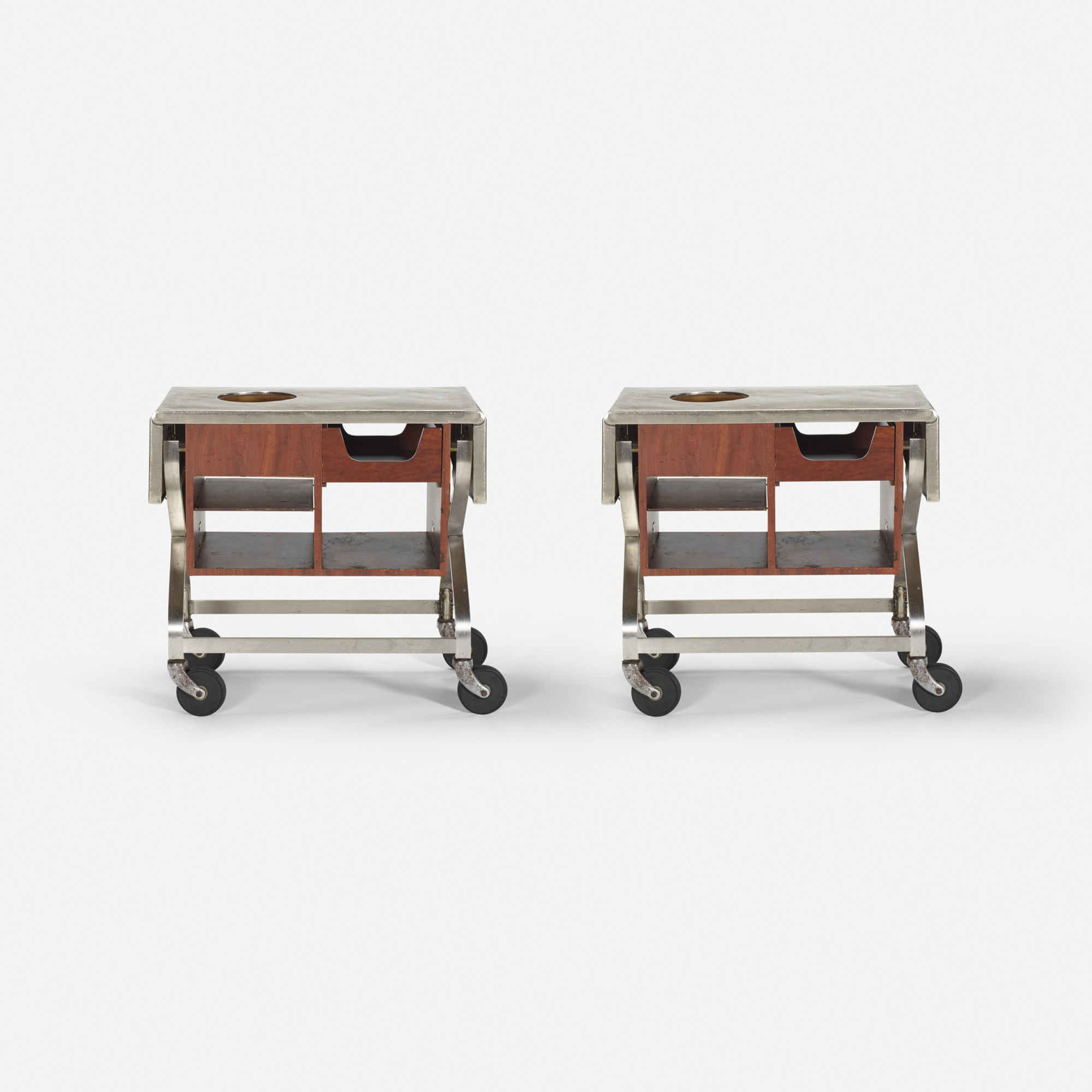 430: Garth and Ada Louise Huxtable / Serving carts from The Four Seasons, pair (1 of 1)