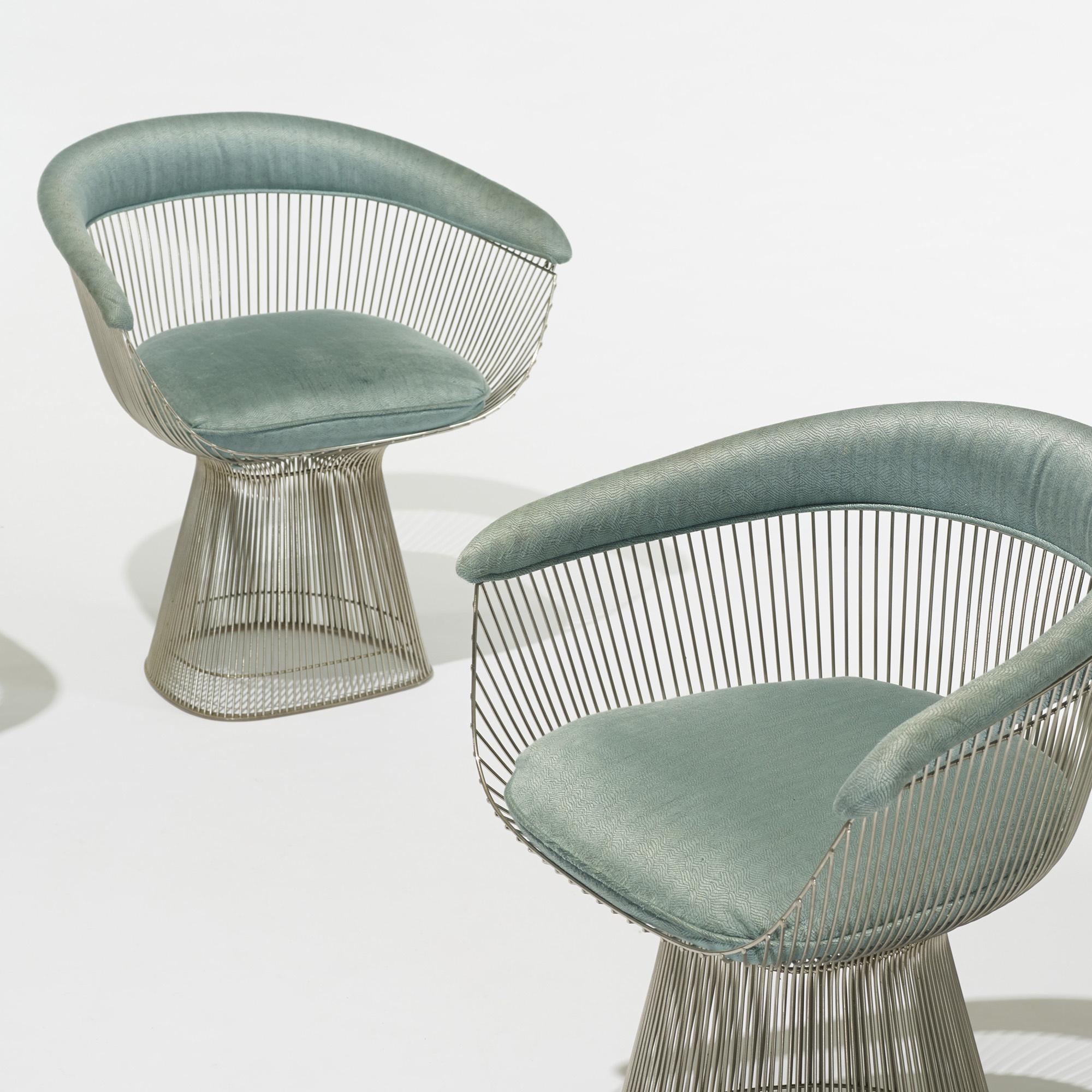 ... 433: Warren Platner / Chairs, Set Of Four (2 Of 5)