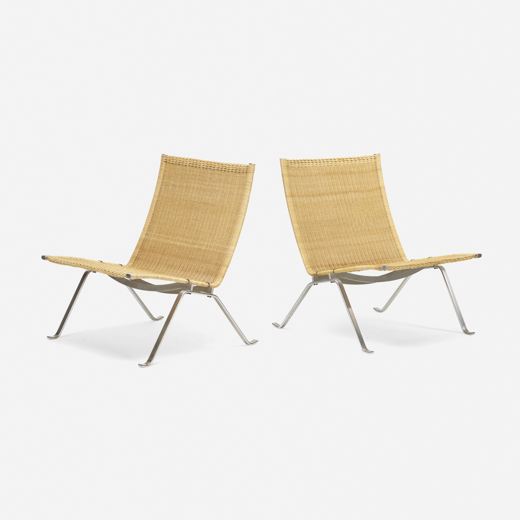 435: Poul Kjaerholm / PK 22 lounge chairs, pair (1 of 3)