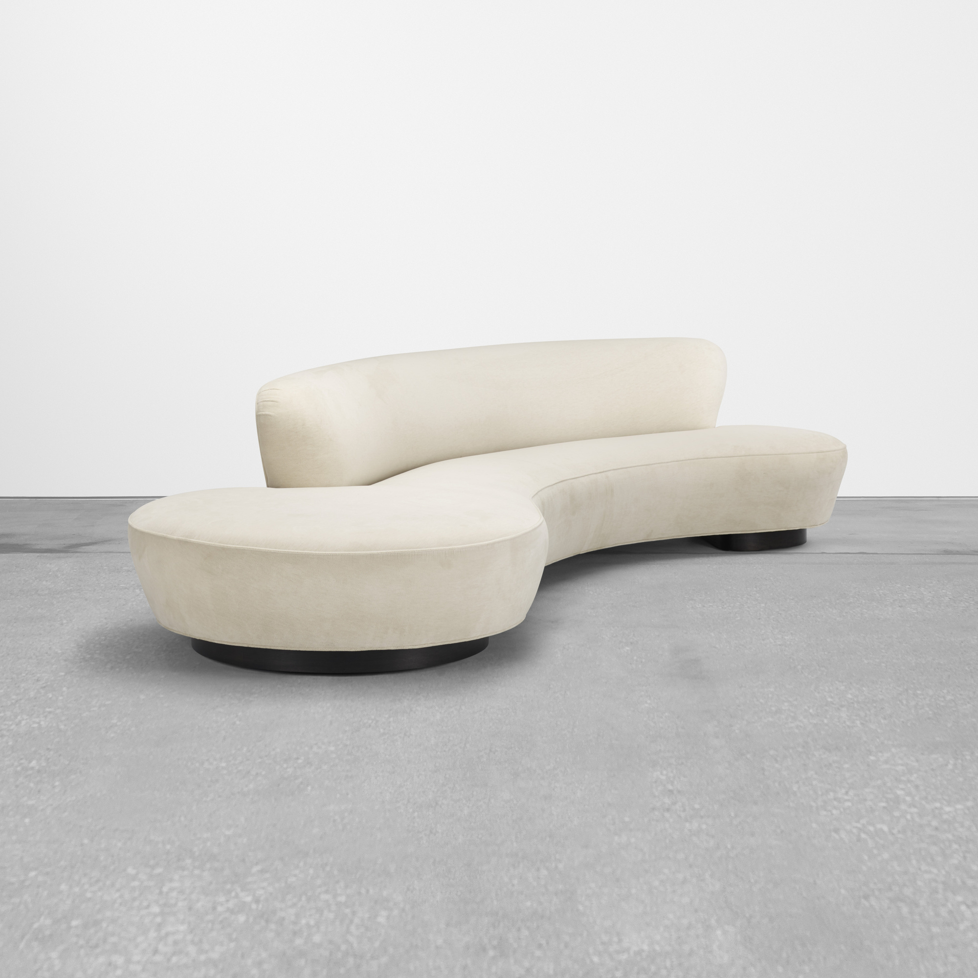 Merveilleux 438: Vladimir Kagan / Serpentine Sofa (1 Of 3)