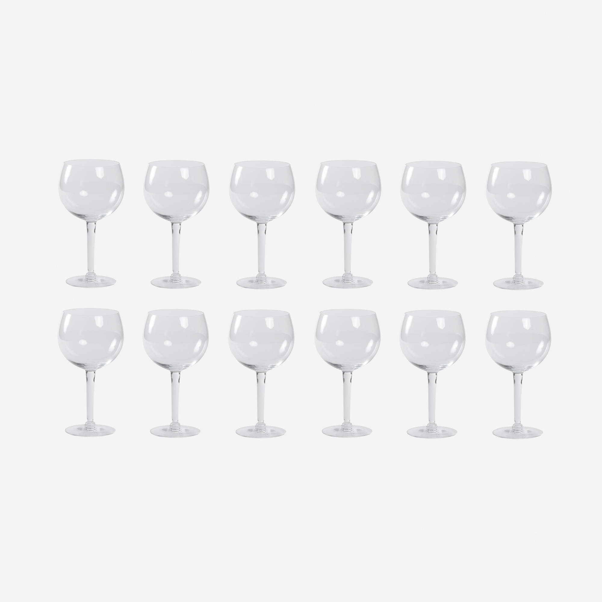 448: Garth and Ada Louise Huxtable / Red Wine glasses from The Four Seasons, set of twelve (1 of 1)