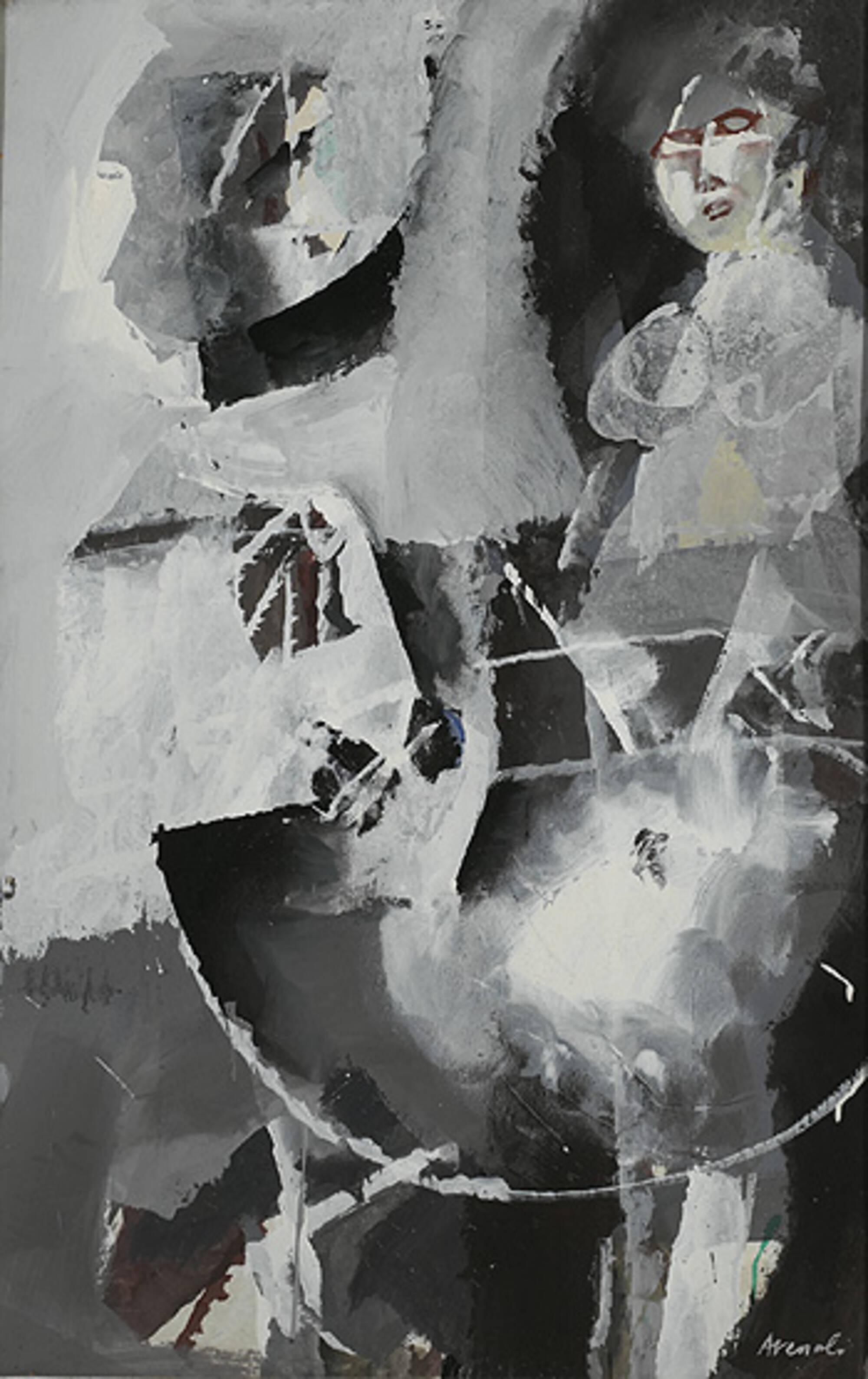 451 Marcello Avenali Donna Seduta Composizione In Bianco
