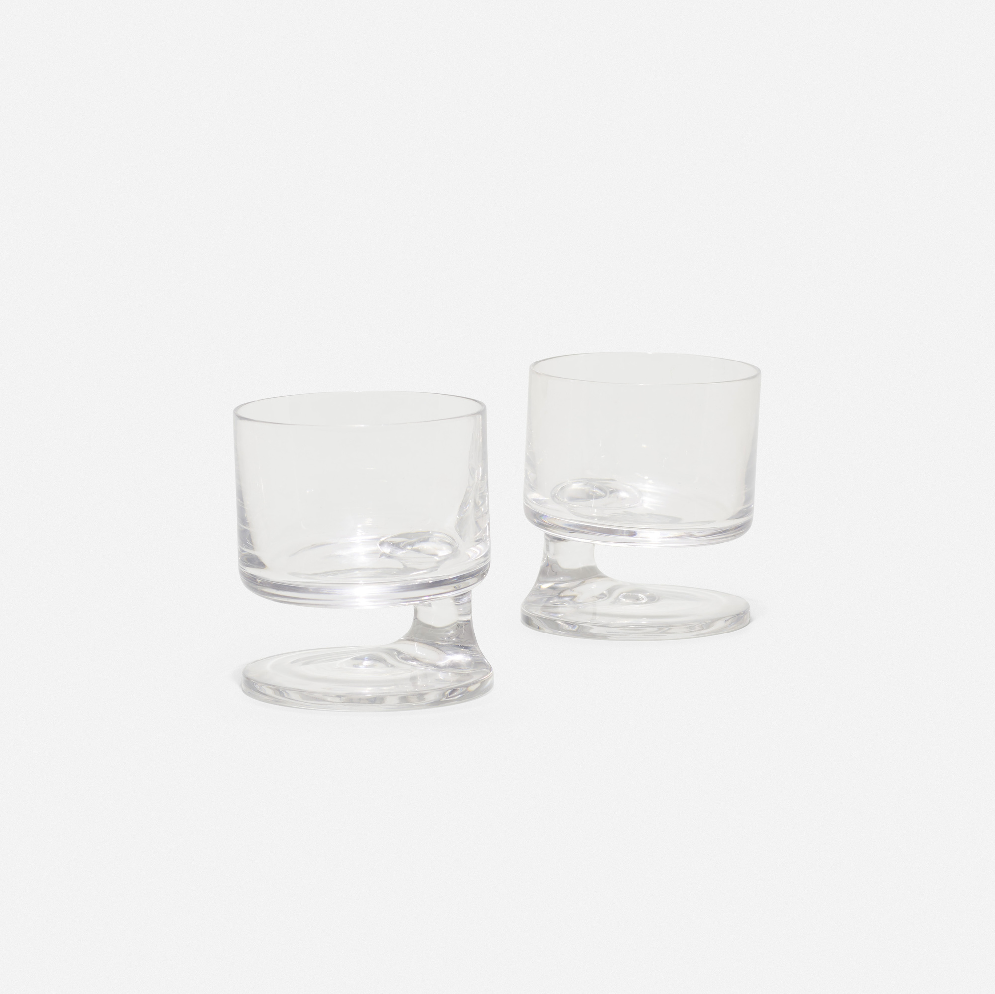 453: Joe Colombo / Smoke glasses, pair (1 of 1)