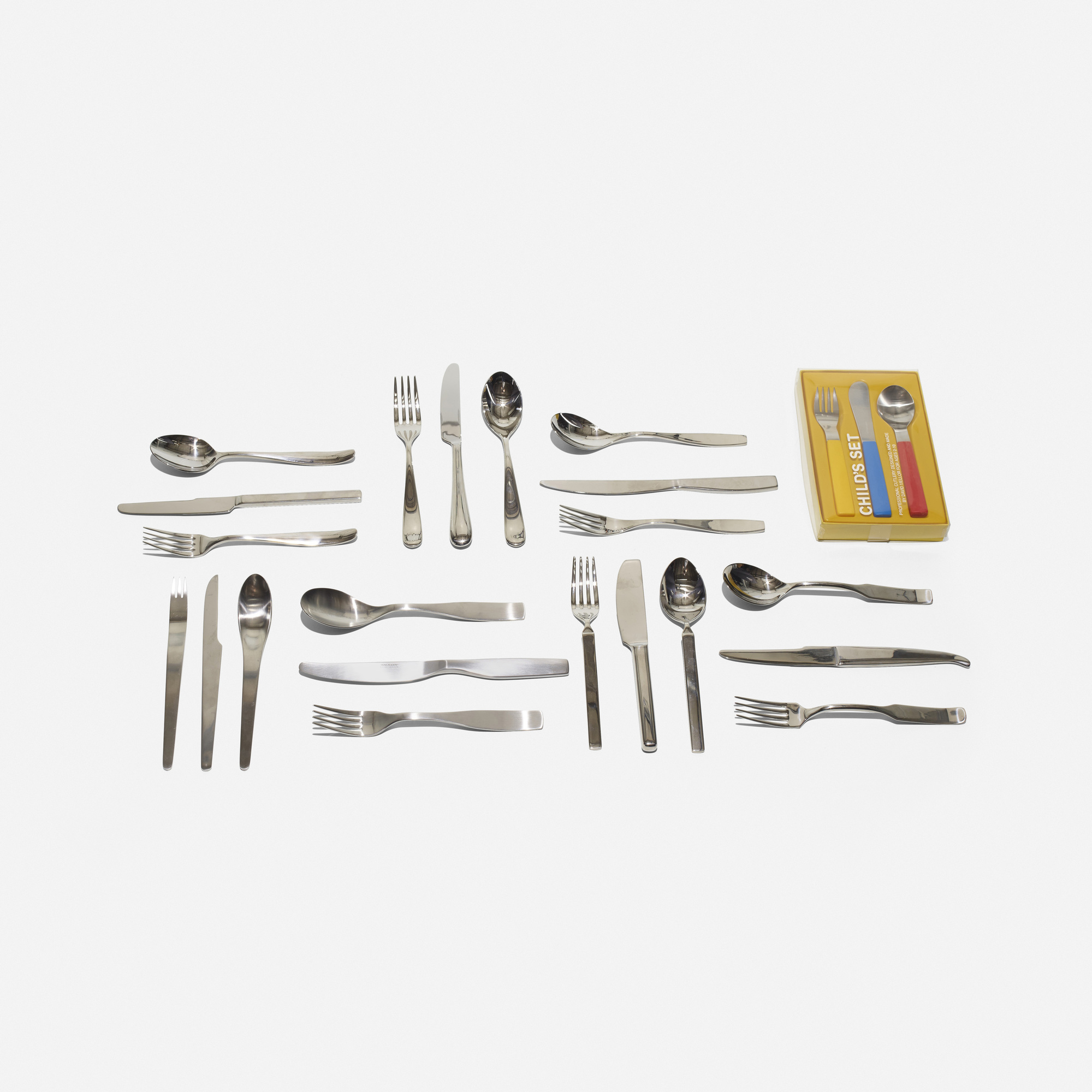 455:  / collection of eight flatware sets (2 of 2)