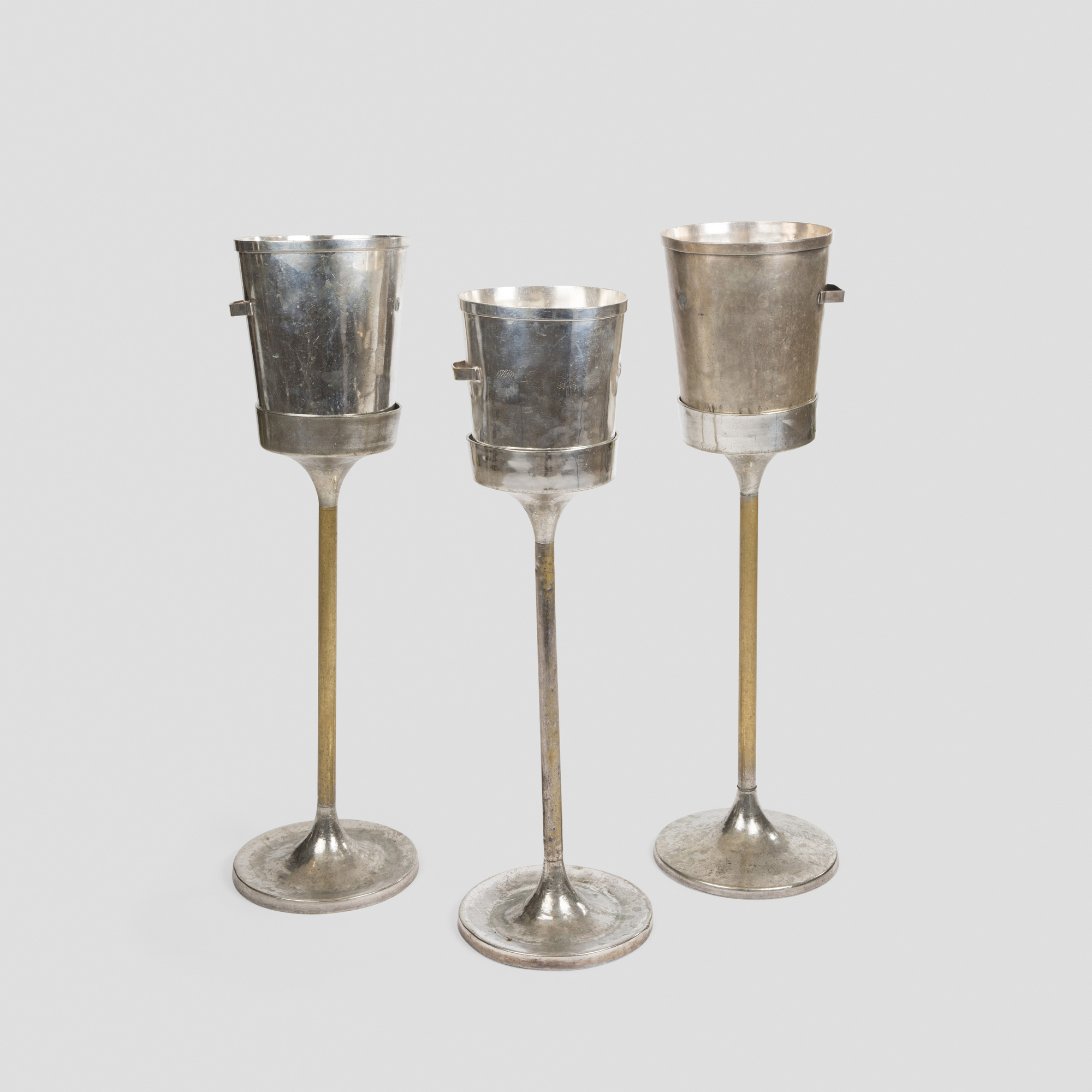 457: Garth and Ada Louise Huxtable / Wine coolers with stands from The Four Seasons, set of three (1 of 1)