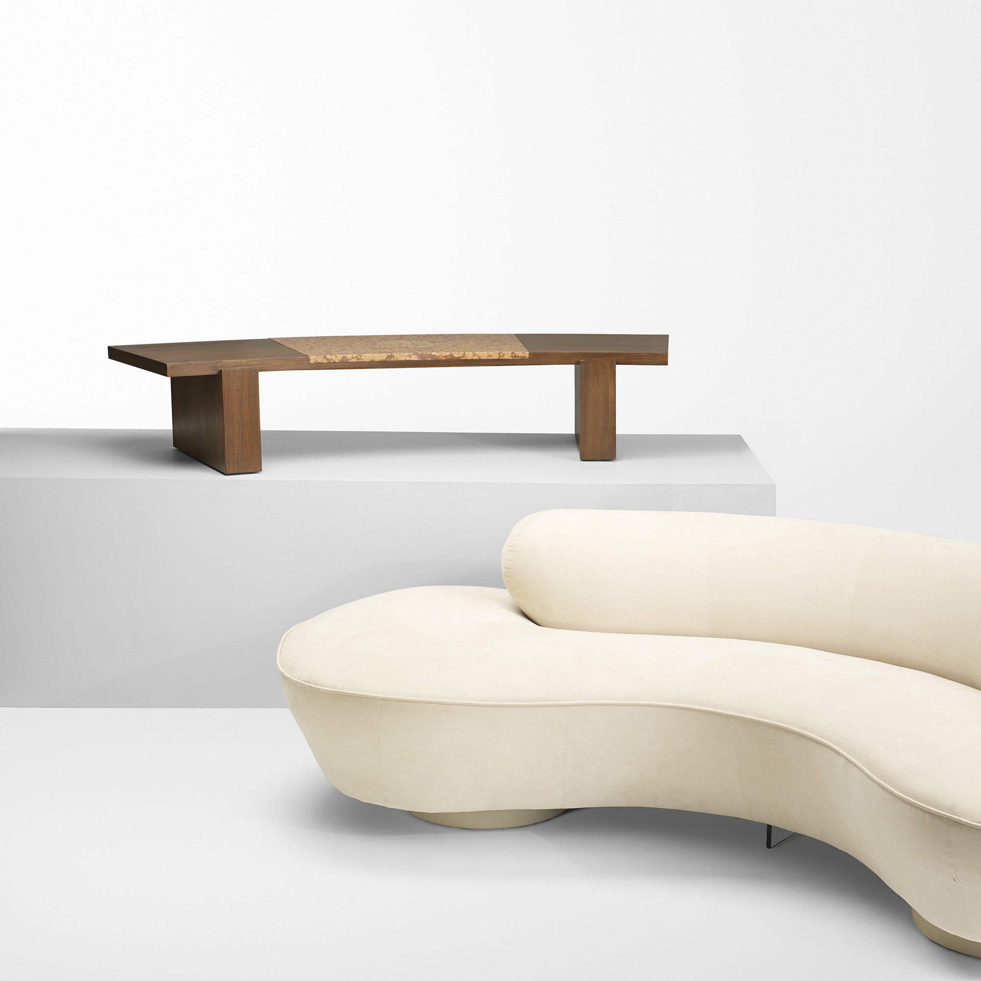 472 Vladimir Kagan coffee table from a Manhattan Interior