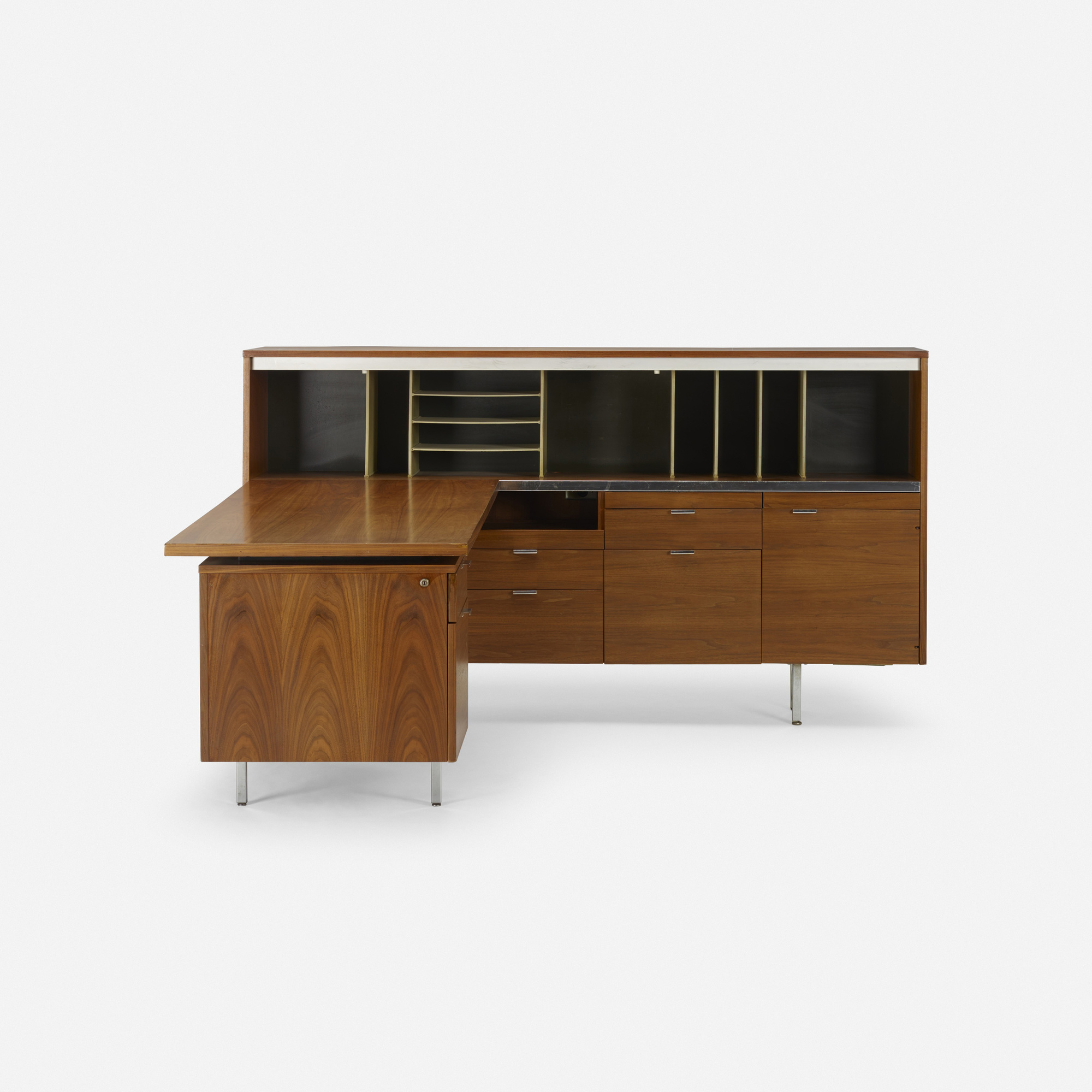 483 George Nelson Associates Executive Office Group High Desk And Return 2