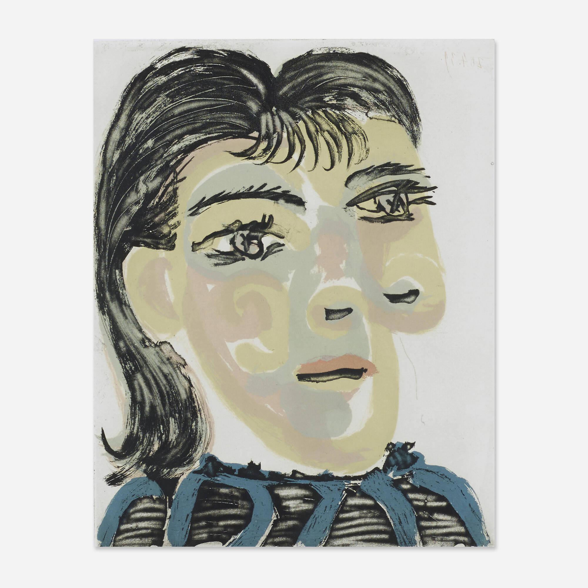 4: PABLO PICASSO, Tête de Femme IV < Pablo Picasso: Master Drawings ...