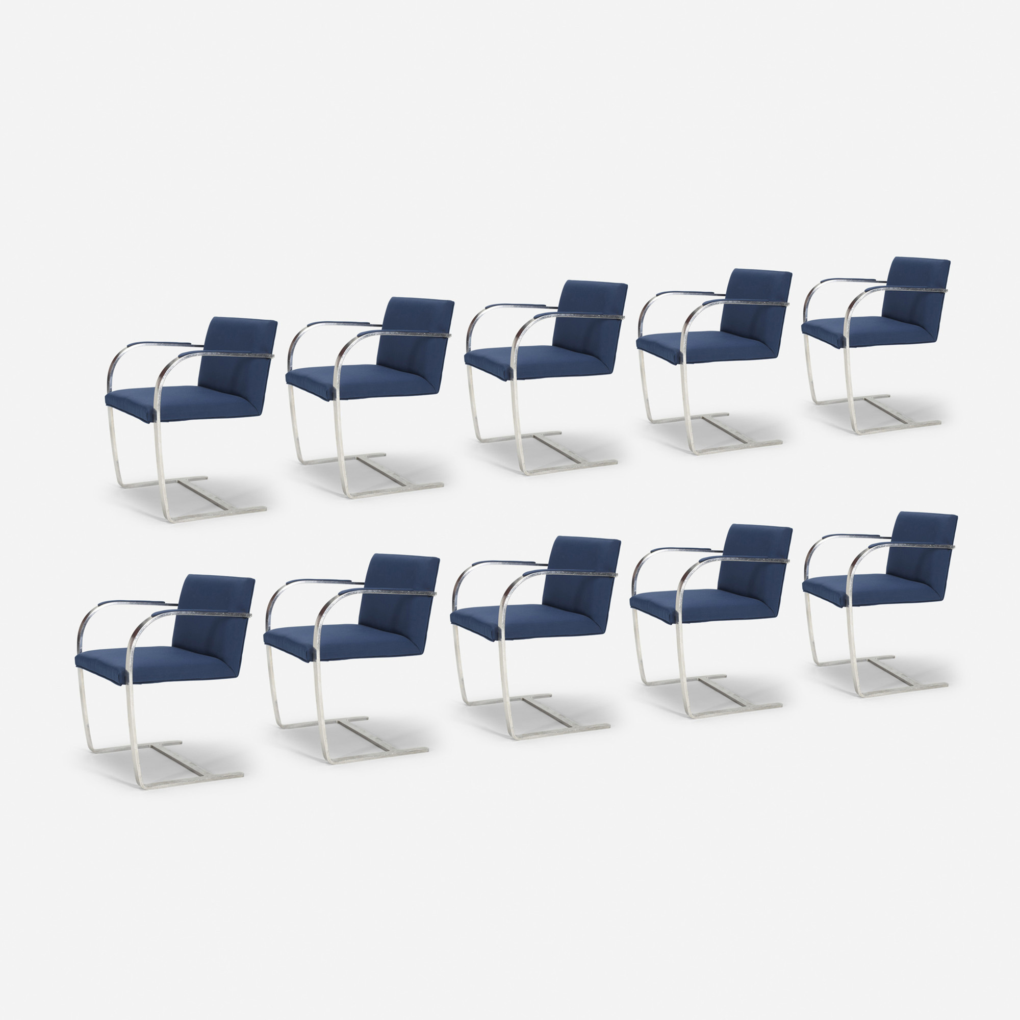 503: Ludwig Mies van der Rohe / Brno chairs from The Four Seasons, set of ten (1 of 1)